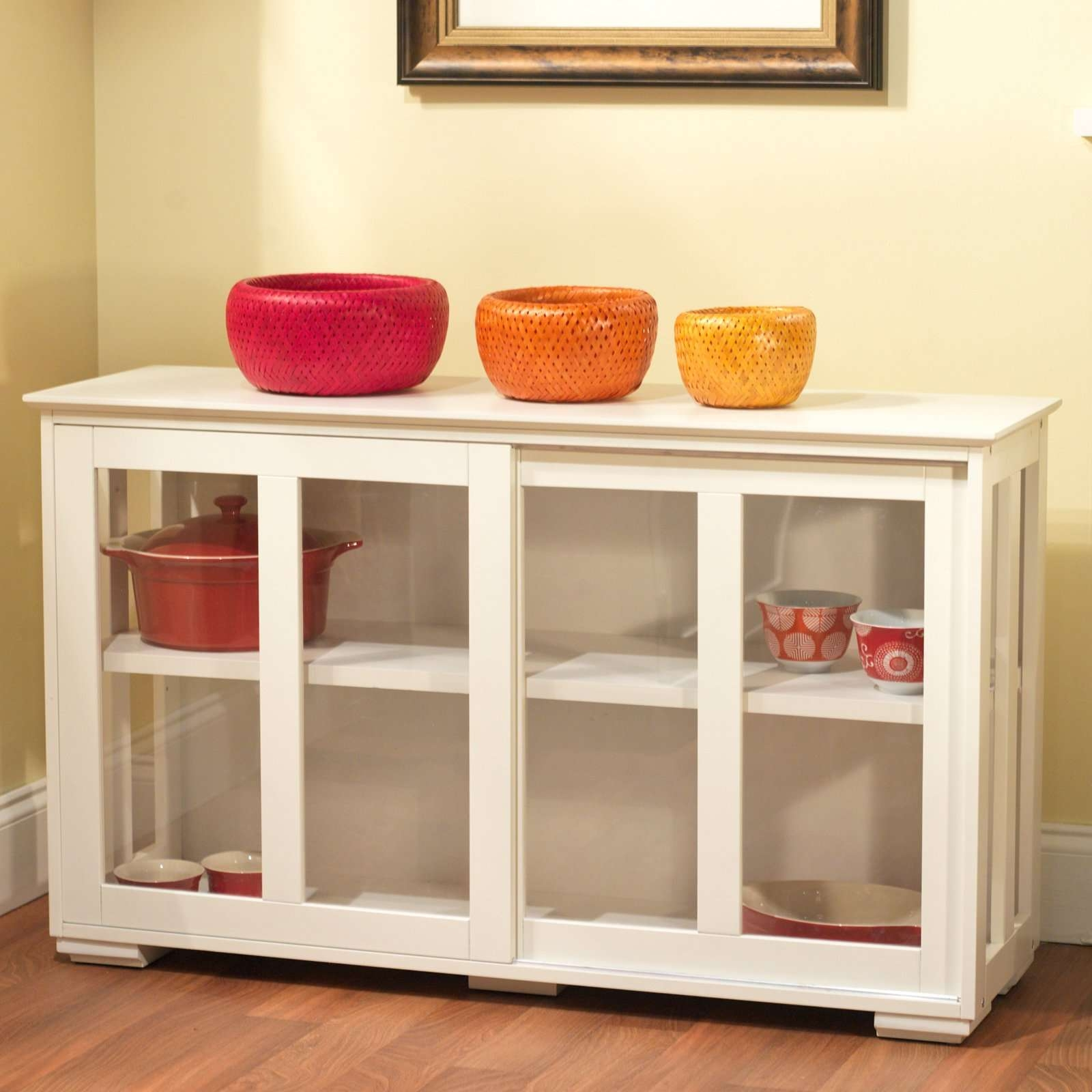 Target Marketing Systems Pacific Stackable Cabinet With Glass Door Within Sideboards With Glass Doors (View 11 of 20)
