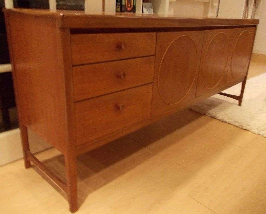 Teak Sideboard Vintage Retro Funky 70's Nathan Drinks Cabinet Regarding G Plan Sideboards (View 12 of 20)
