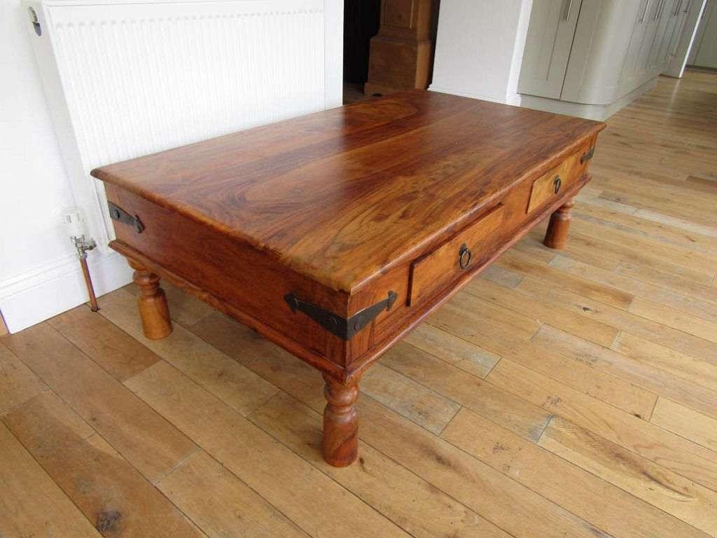 Thakat Sheesham Maharani Large Coffee Table With Drawers (View 7 of 20)