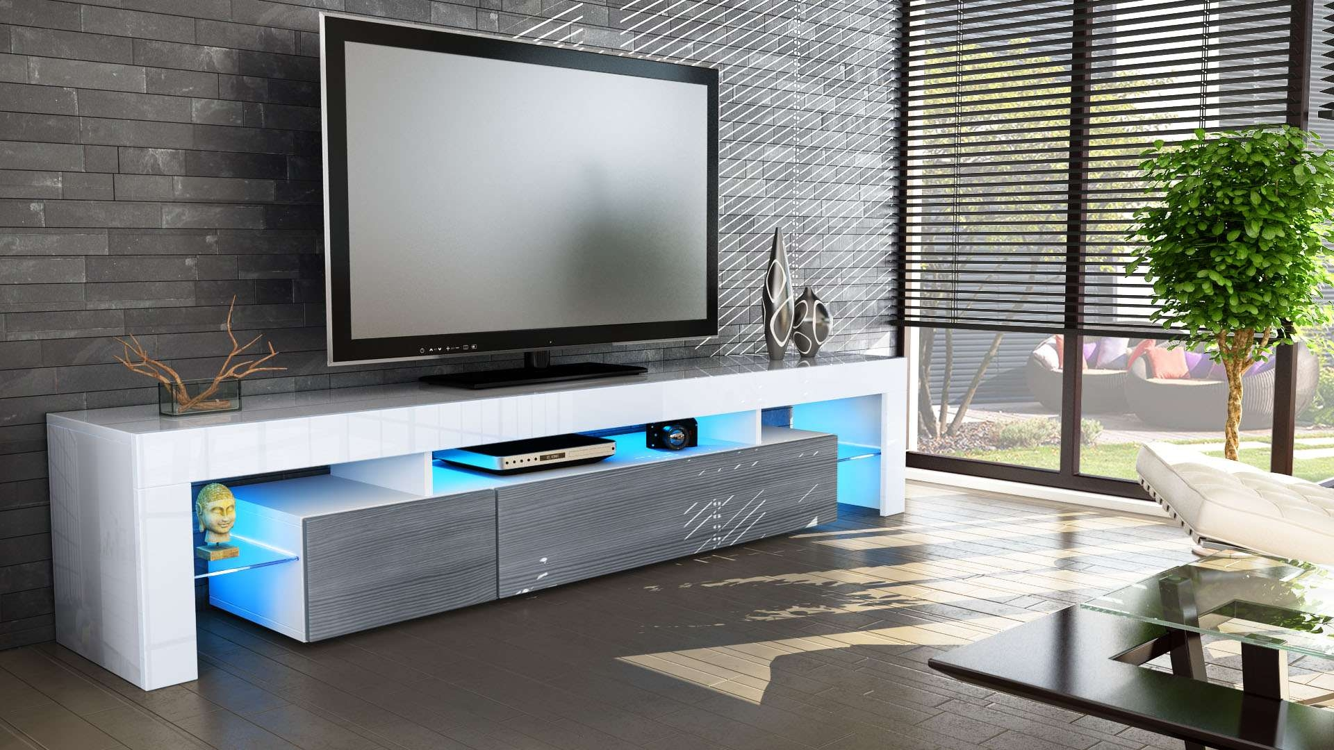 The Best Entertainment Center & Tv Stand For 60 Inch Tv Reviewed In High Gloss White Tv Cabinets (View 15 of 20)
