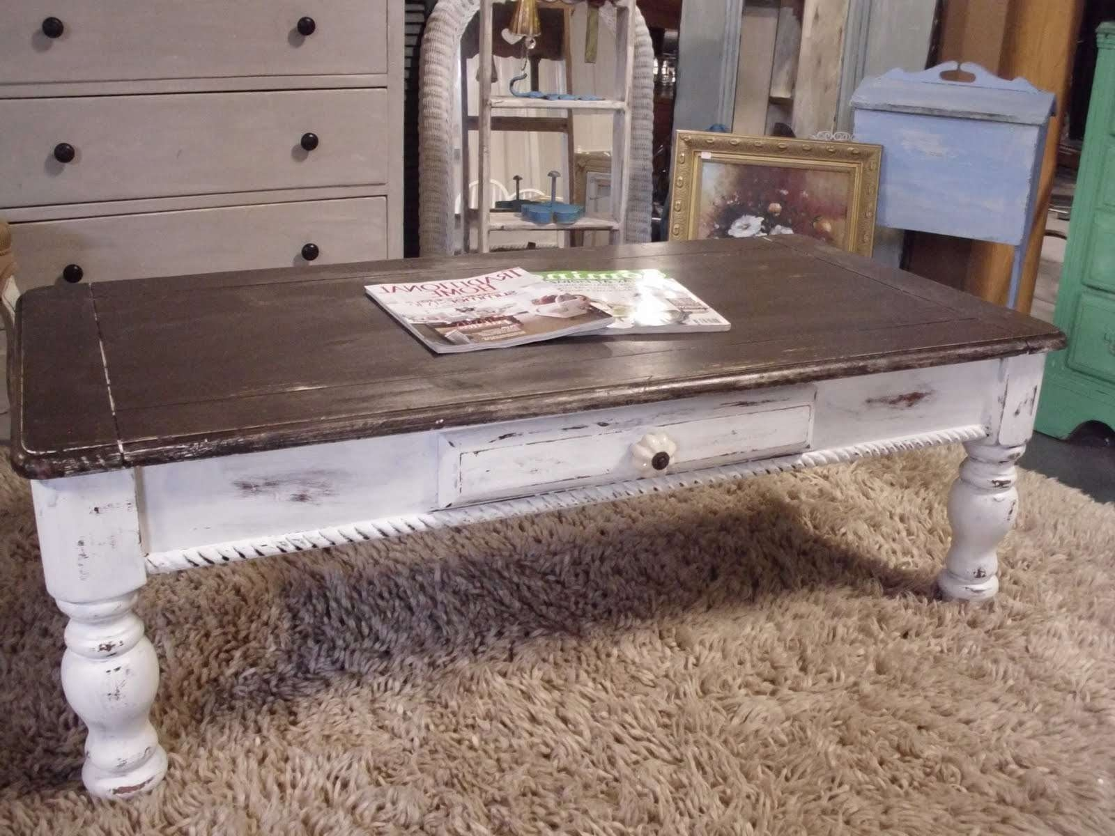 The French Flea: Distressed Coffee Table In Most Up To Date French White Coffee Tables (View 18 of 20)