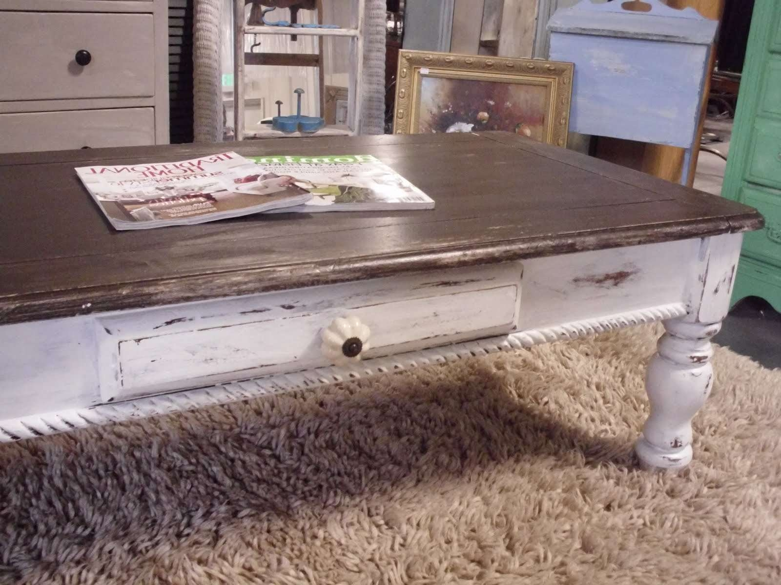 The French Flea: Distressed Coffee Table Regarding Most Current White French Coffee Tables (View 20 of 20)