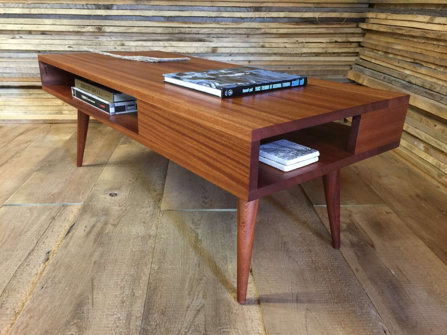 Thin Man Mid Century Modern Coffee Table With Storage Intended For Most Recently Released Modern Coffee Tables With Storage (View 17 of 20)