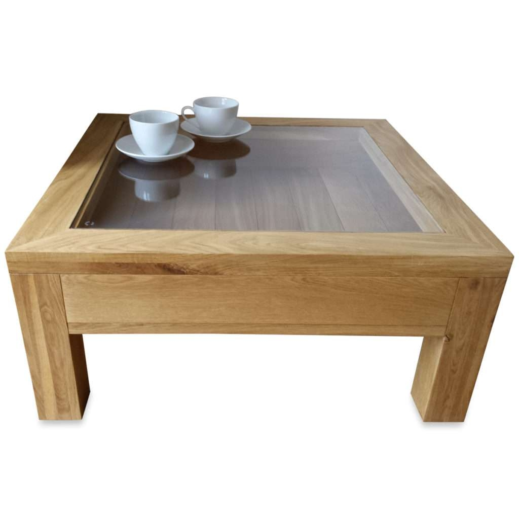 Thippo / Daily Inspiration About Coffee Tables With Current Oak Coffee Table With Glass Top (View 5 of 20)