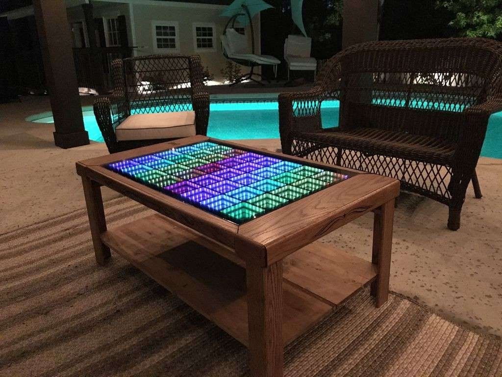 This Led Coffee Table Takes Your Home Decor To Infinity And Beyond! With Well Known Led Coffee Tables (View 17 of 20)