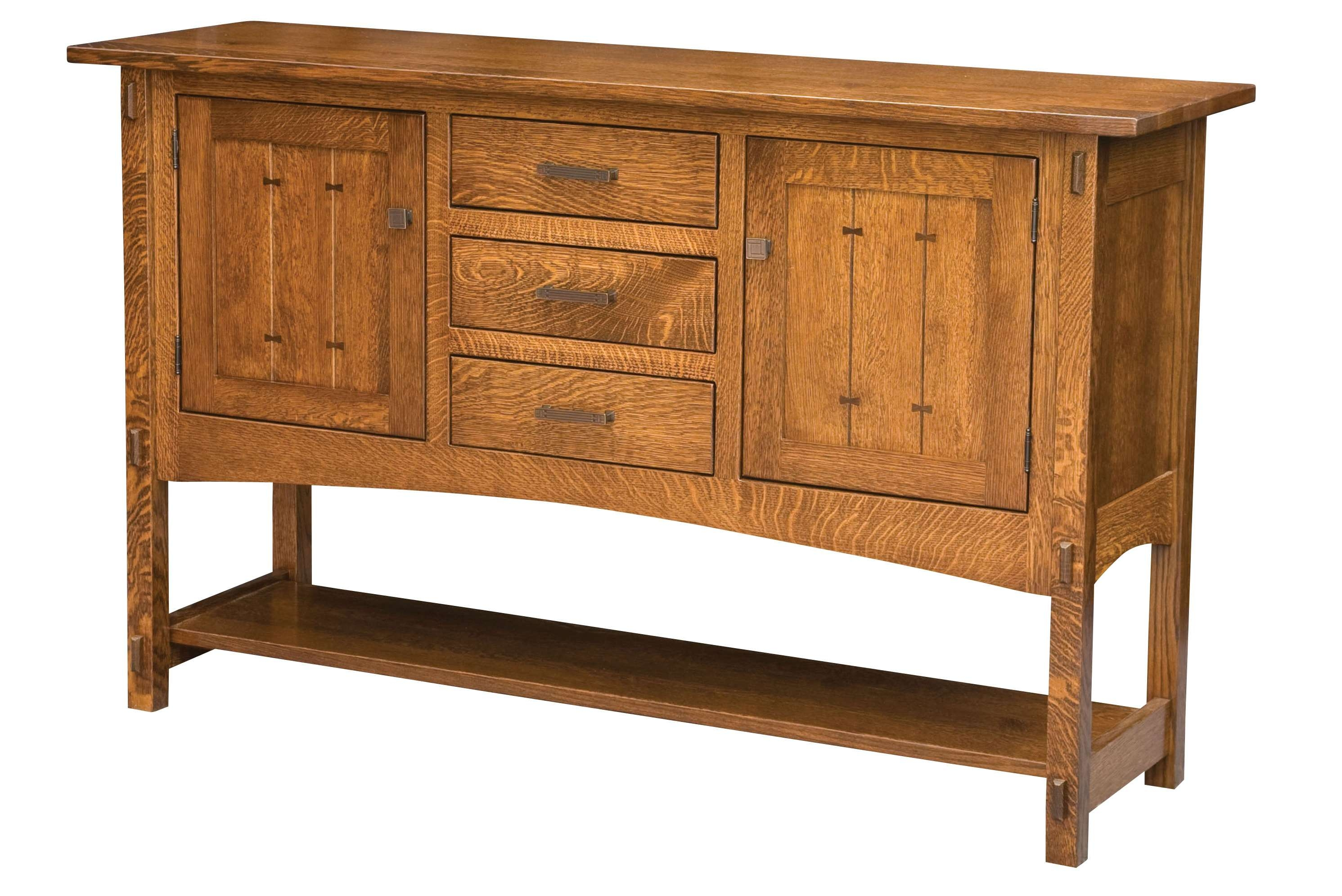 This Sideboard Builtthe Amish For The Mission Works Features Intended For Mission Style Sideboards (View 4 of 20)