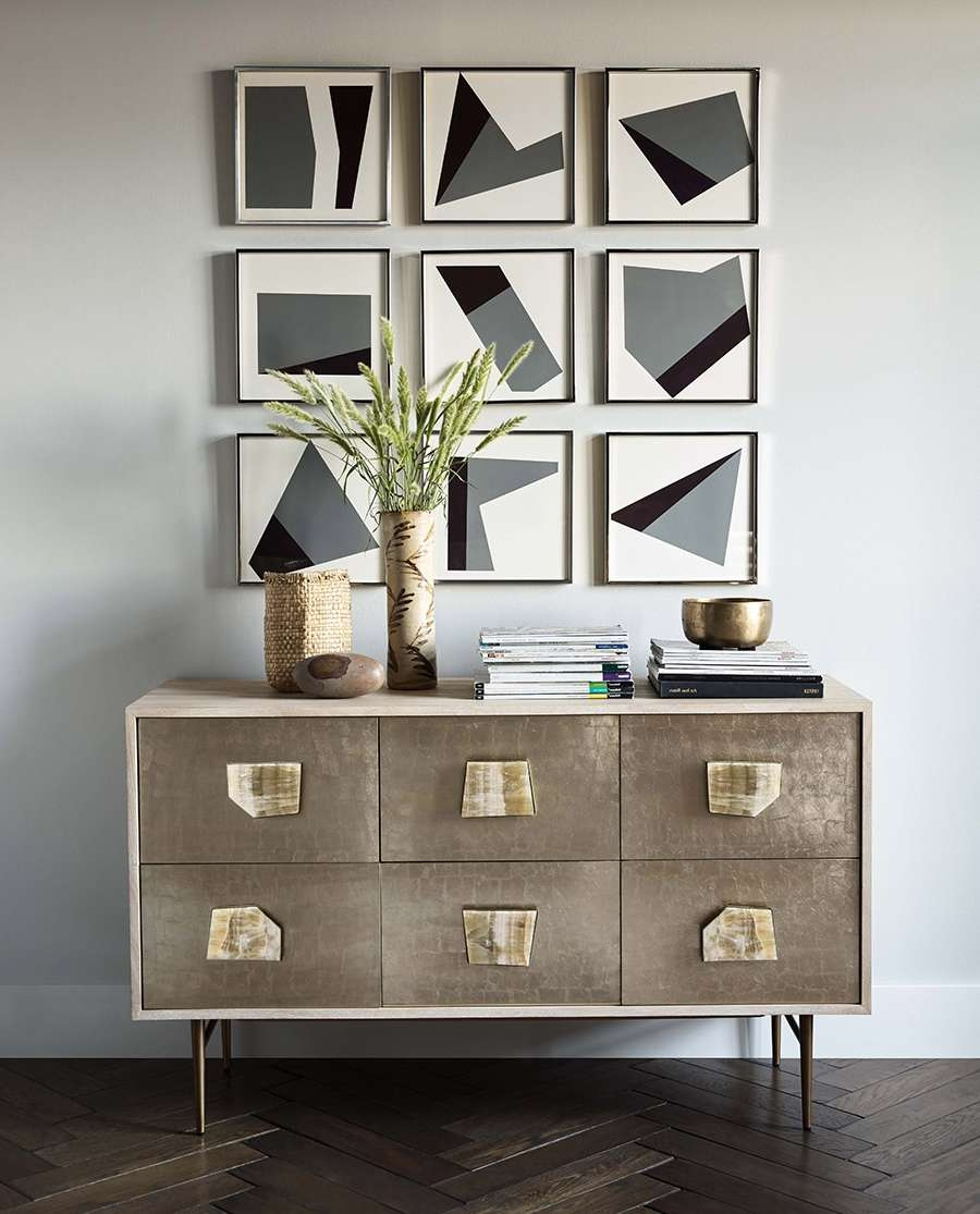 This Stunning Diy Wall Art Couldn't Be Easier – Front + Main With Regard To West Elm Sideboards (View 16 of 20)