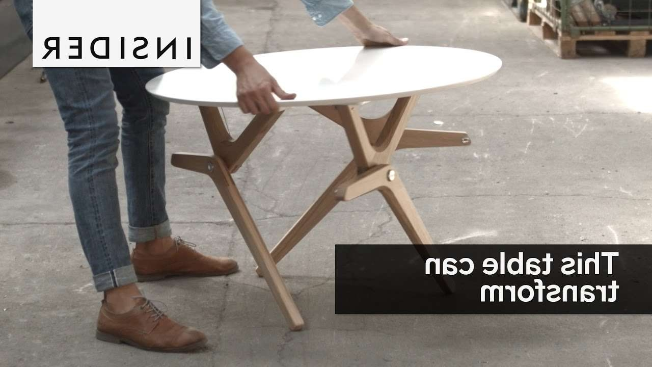 This Table Tranforms From A Coffee Table To A Dining Table – Youtube Intended For Well Liked Dining Coffee Tables (View 20 of 20)