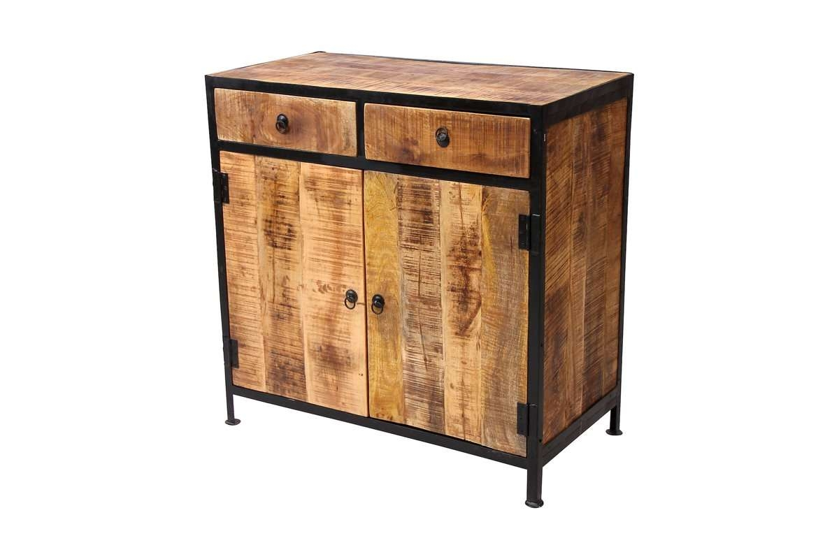 Timbergirl Industrial Reclaimed Wood And Iron 2 Drawer Sideboard Regarding Reclaimed Sideboards (View 19 of 20)