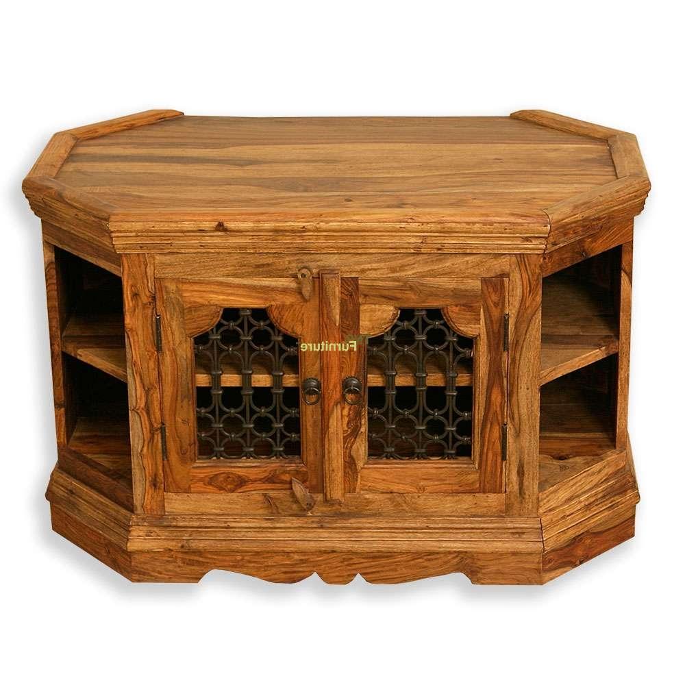 Tns Furniture | Jali Corner Tv Cabinet With Jali Tv Cabinets (View 7 of 20)
