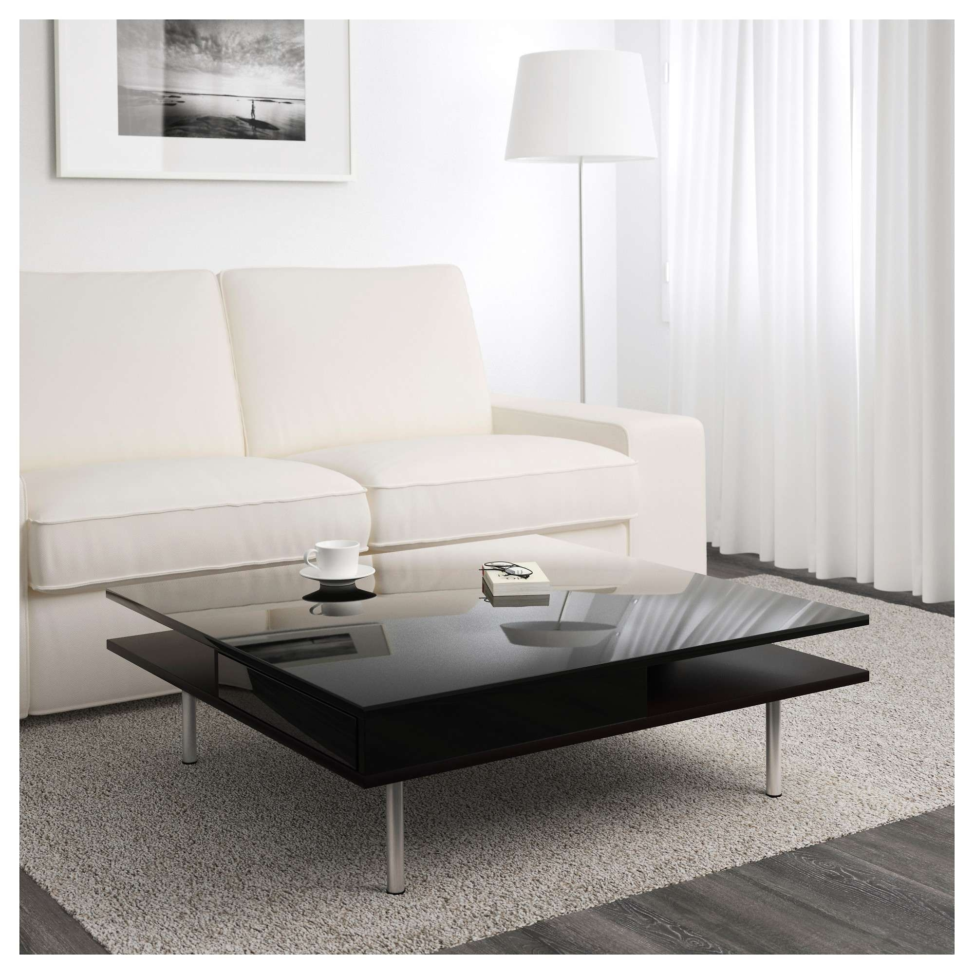 Tofteryd Coffee Table – High Gloss Black – Ikea Intended For Fashionable High Gloss Coffee Tables (View 17 of 20)