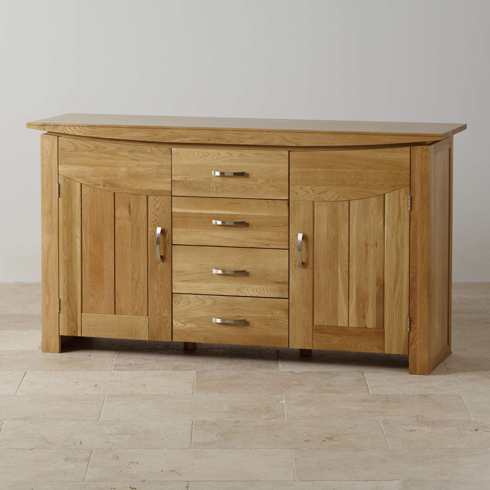 Tokyo Large Sideboard In Natural Solid Oak | Oak Furniture Land Inside Rustic Oak Large Sideboards (View 20 of 20)