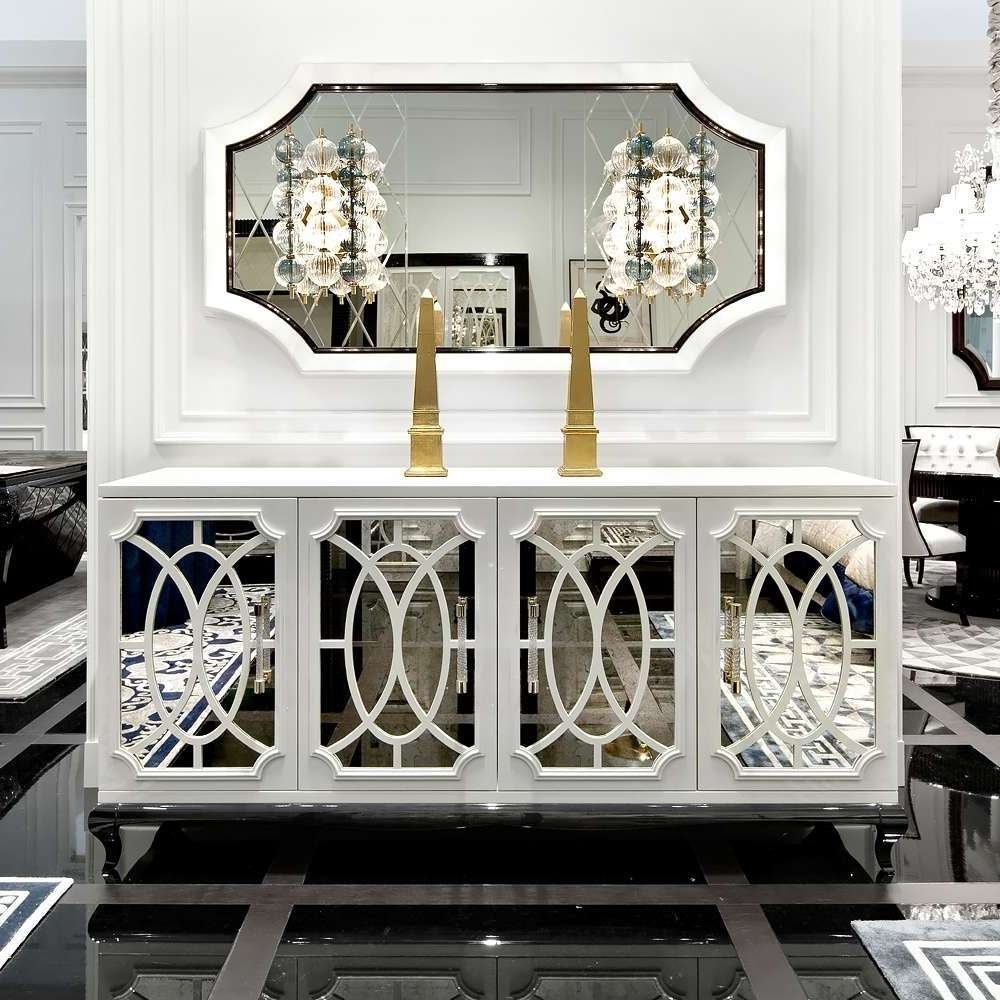 Top 20 Of White Mirrored Sideboards For Mirror Sideboards (View 20 of 20)