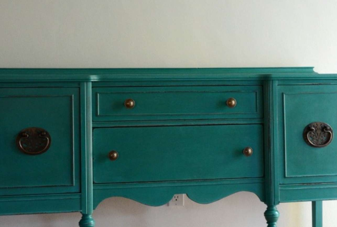 Top Distressed Servers Tags : Distressed White Sideboard Inside Turquoise Sideboards (View 14 of 20)