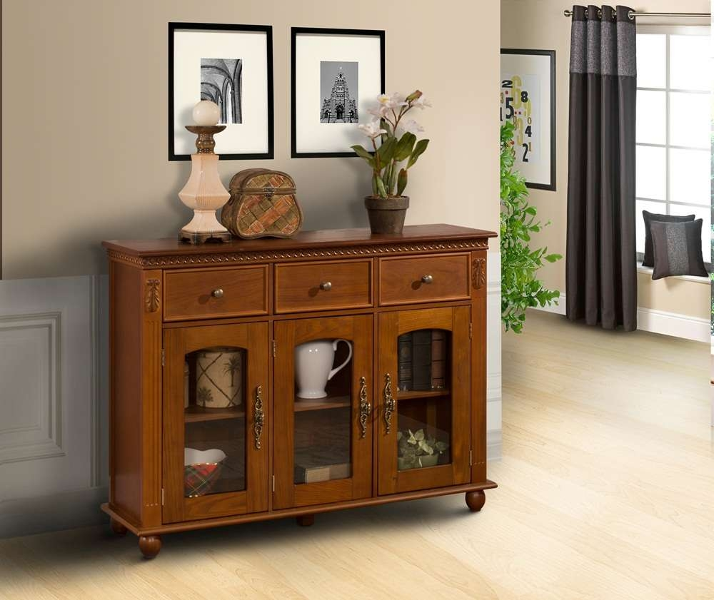 Top Glass Buffet Table Sideboard — New Decoration : How To Clean With Glass Buffet Table Sideboards (View 7 of 20)