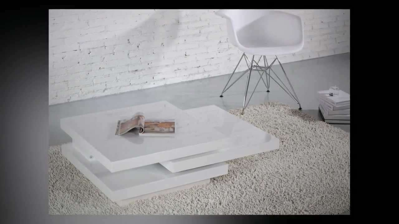 Torino Rotatable Coffee Table – Youtube Regarding Famous Torino Coffee Tables (View 18 of 20)