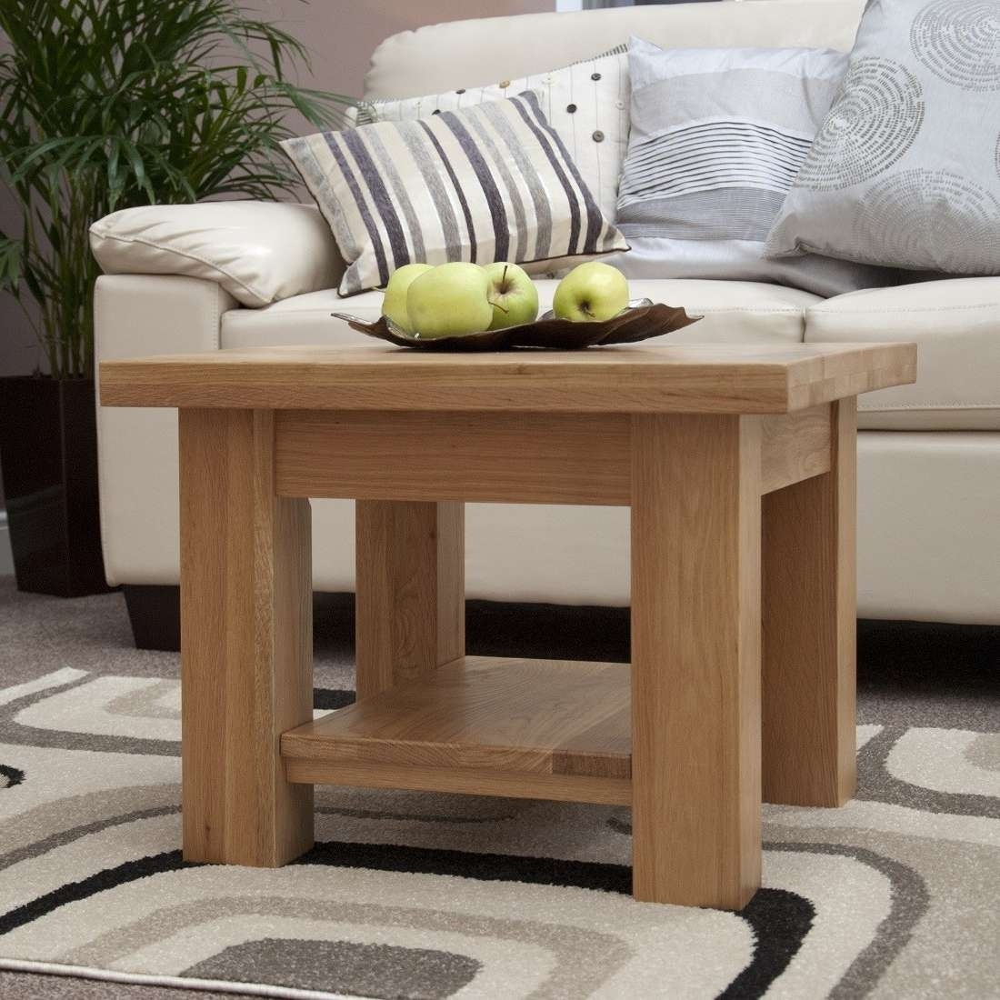 Torino Solid Oak Coffee Table/lamp Table (View 14 of 20)