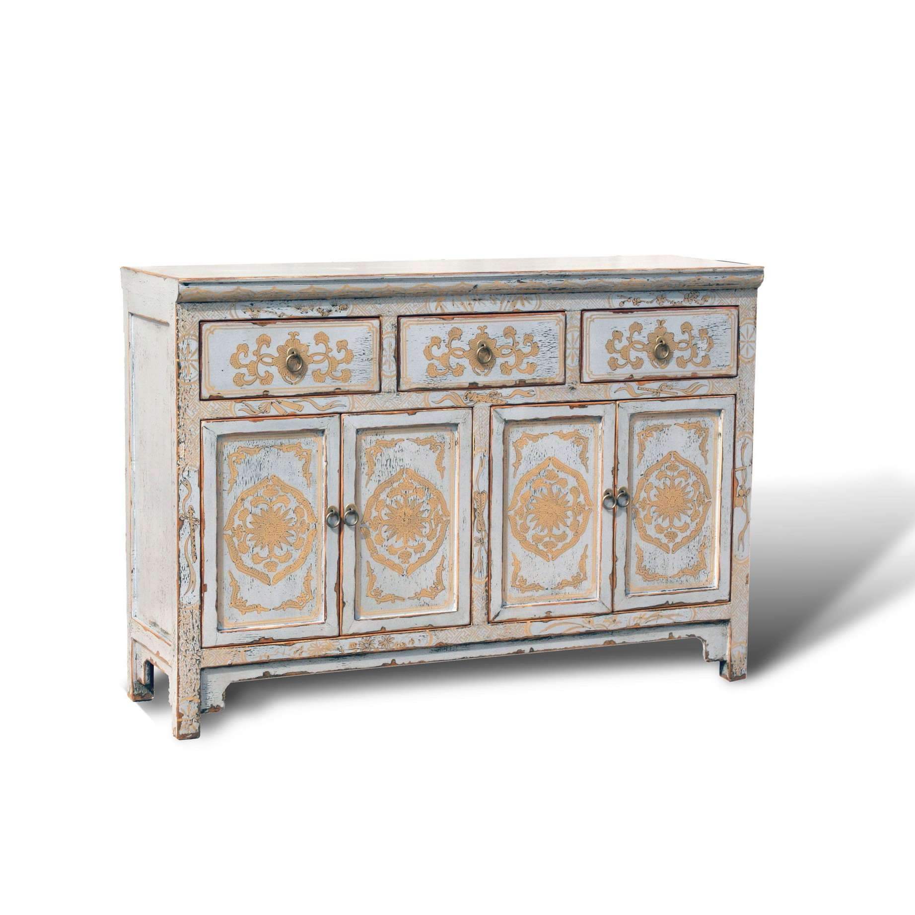 "Touch Of Exotic"" Painted Buffet – Acf China Intended For Painted Sideboards And Buffets (View 11 of 20)"