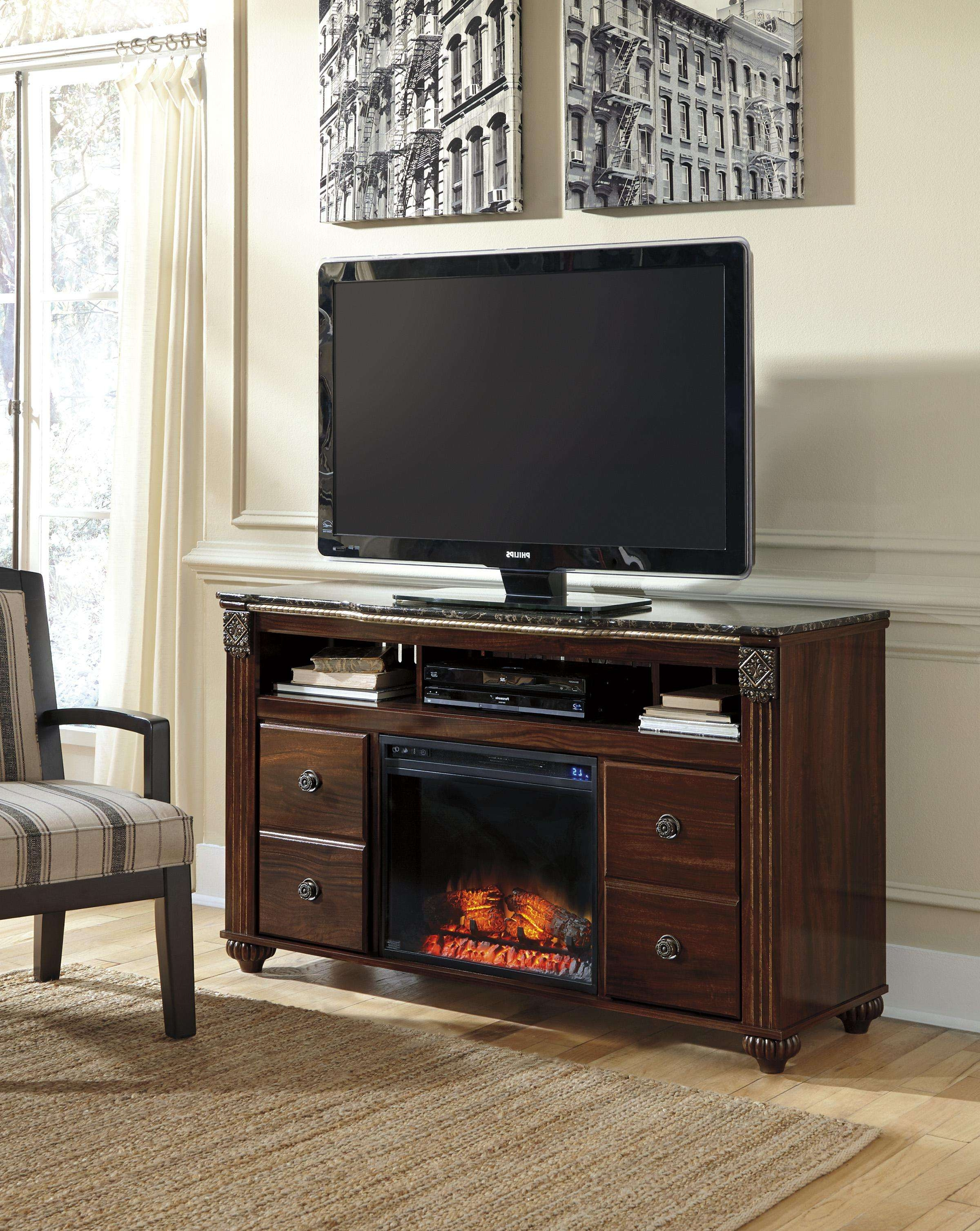 Traditional Large Tv Stand With Fireplace Insertsignature Regarding Traditional Tv Cabinets (View 9 of 20)