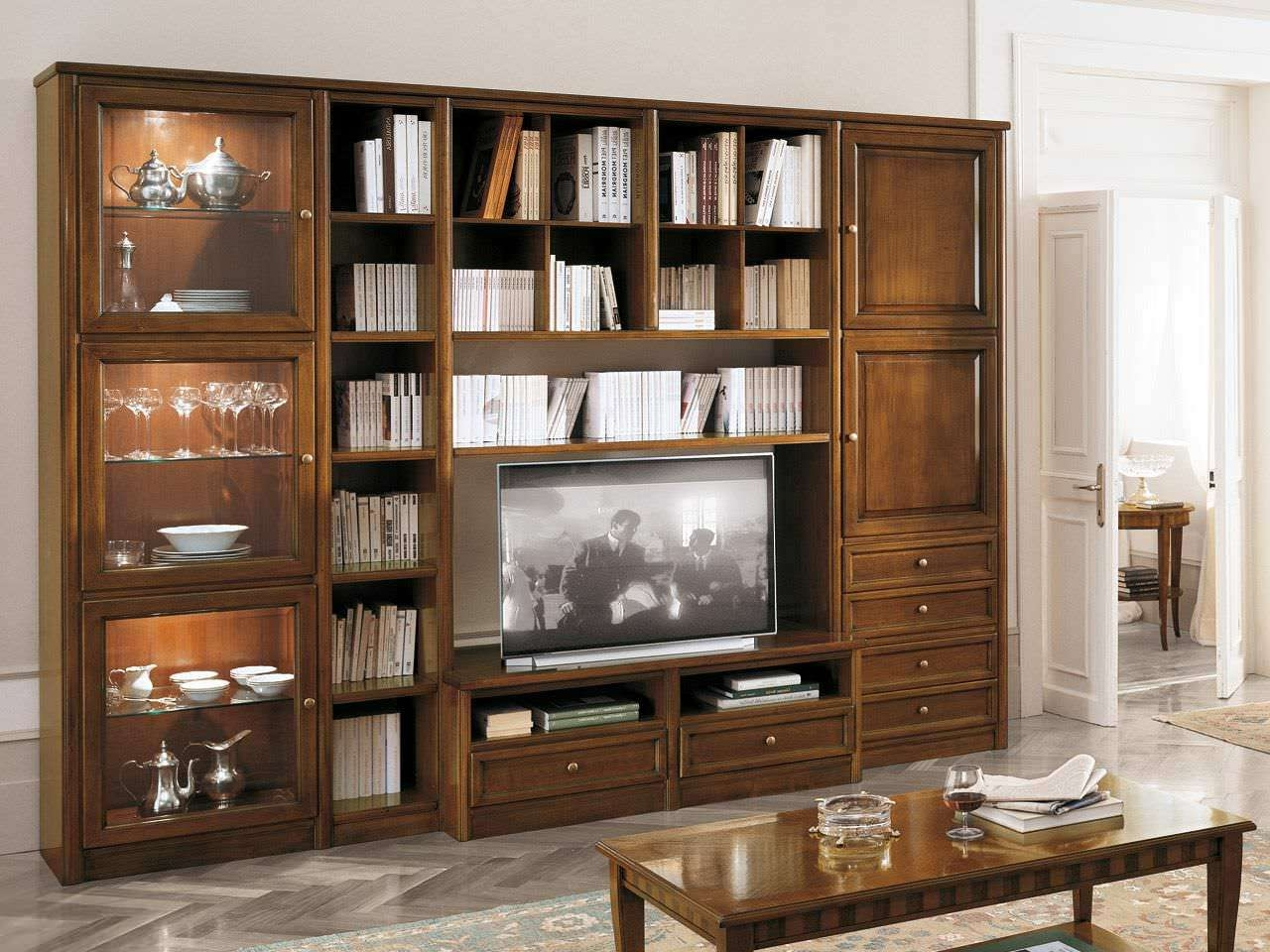 Traditional Tv Cabinet / Wooden – Livingpierangelo Sciuto Pertaining To Traditional Tv Cabinets (View 14 of 20)