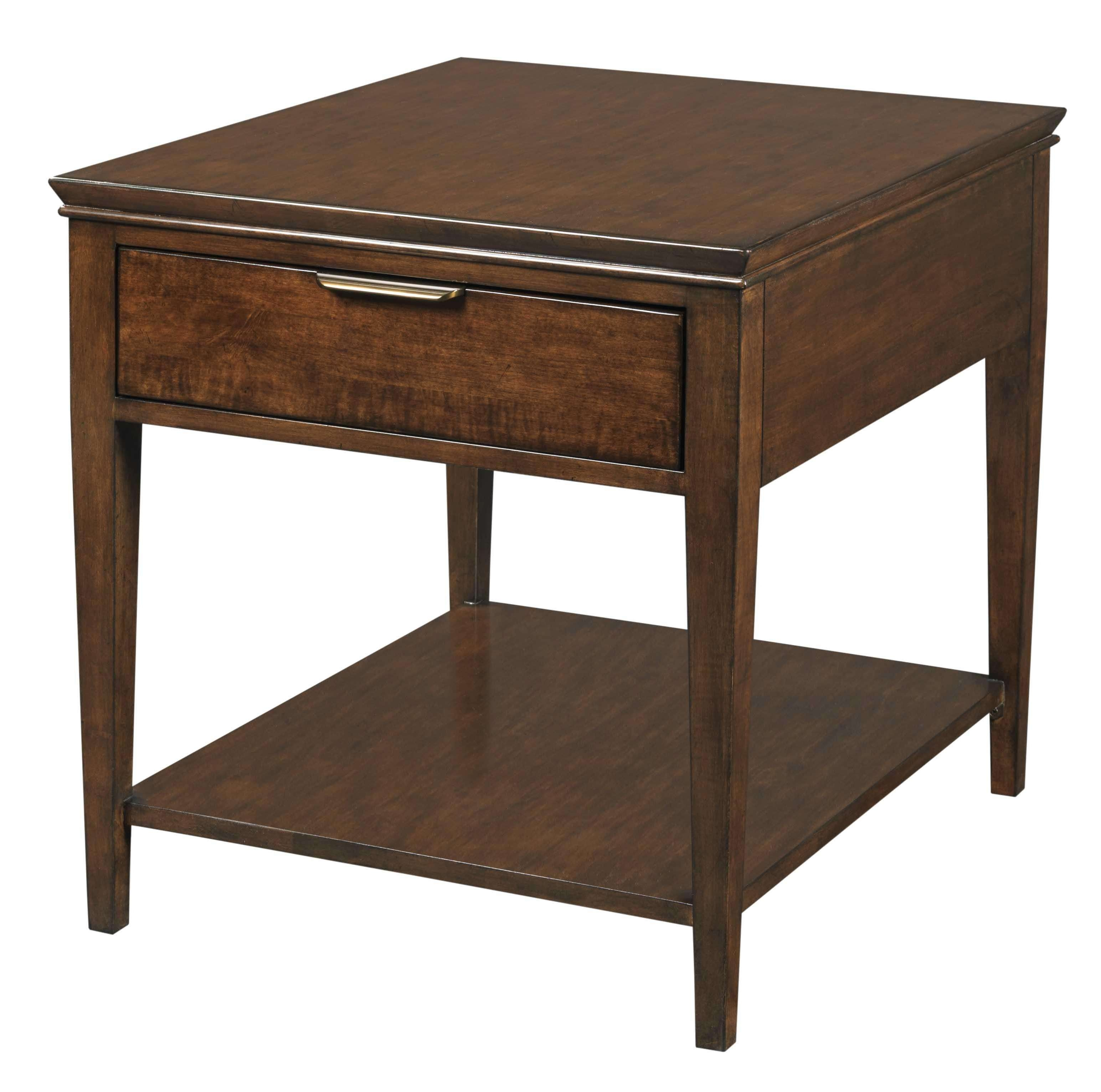 Transitional Elise End Table With One Drawerkincaid Furniture In Best And Newest Elise Coffee Tables (View 15 of 20)