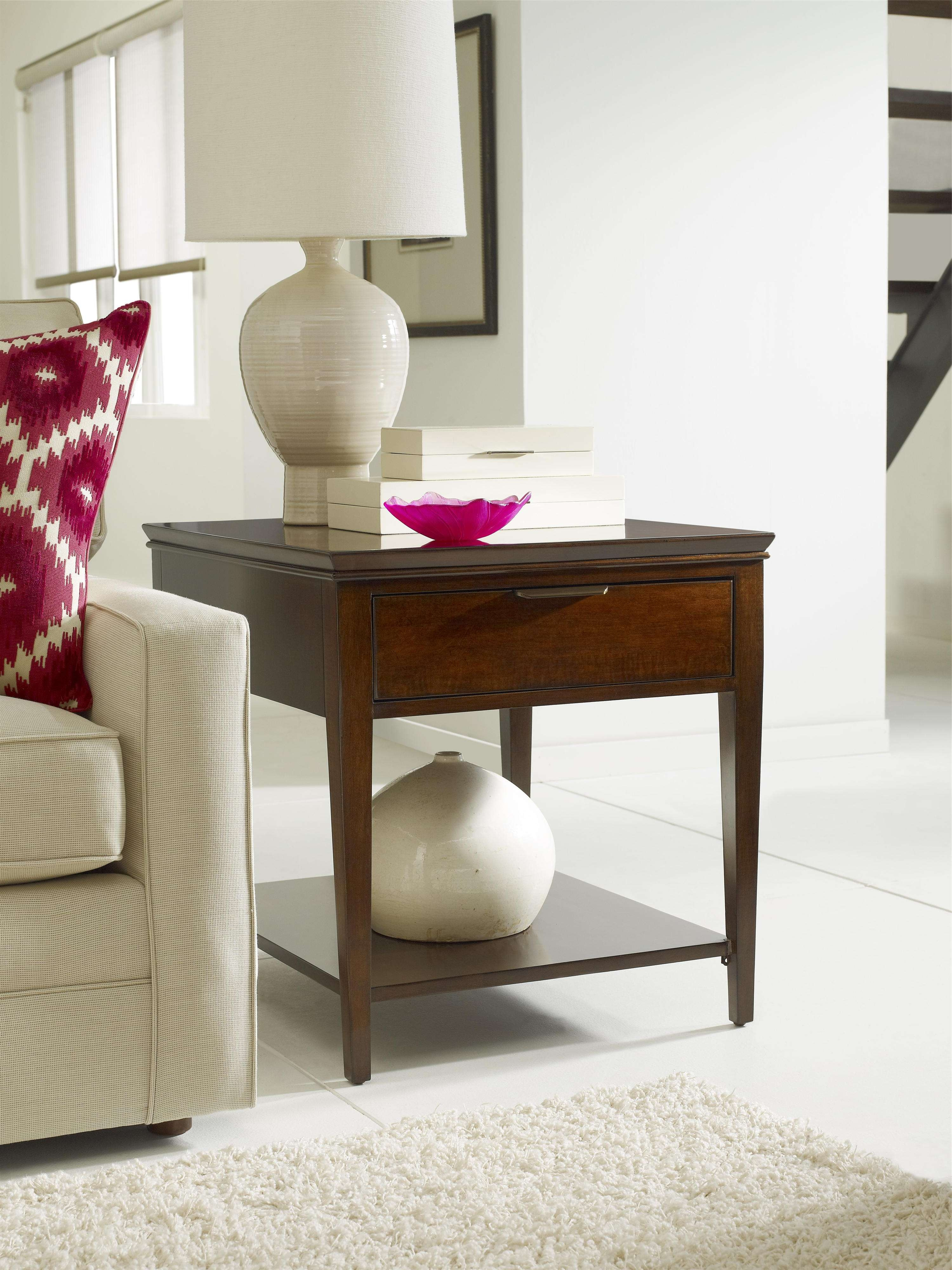 Transitional Elise End Table With One Drawerkincaid Furniture Intended For Recent Elise Coffee Tables (View 18 of 20)