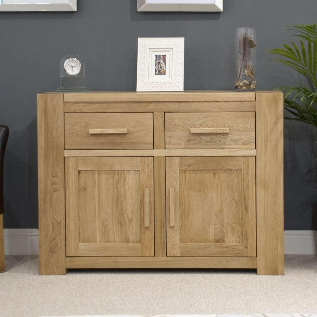 Trend Solid Oak Small 2 Door Sideboard | Oak Furniture Uk Pertaining To Oak Sideboards (View 12 of 20)