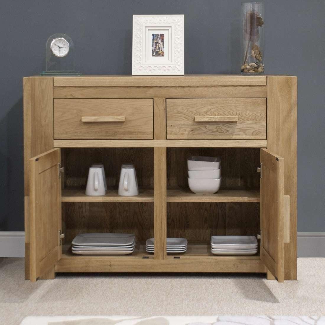 Trend Solid Oak Small 2 Door Sideboard | Oak Furniture Uk Within 2 Door Sideboards (View 13 of 20)