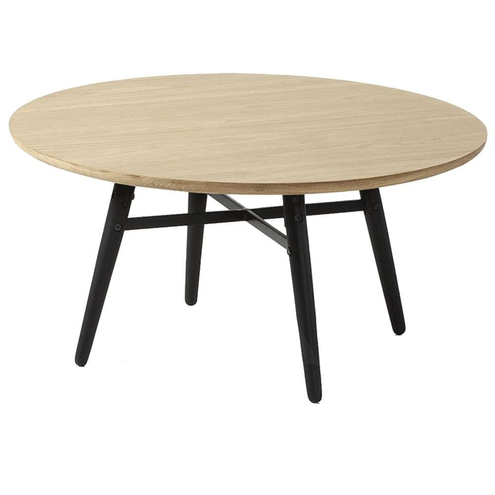 Trendy Ava Coffee Tables Throughout Ava Coffee Table Oak Top Black Legs (View 7 of 20)