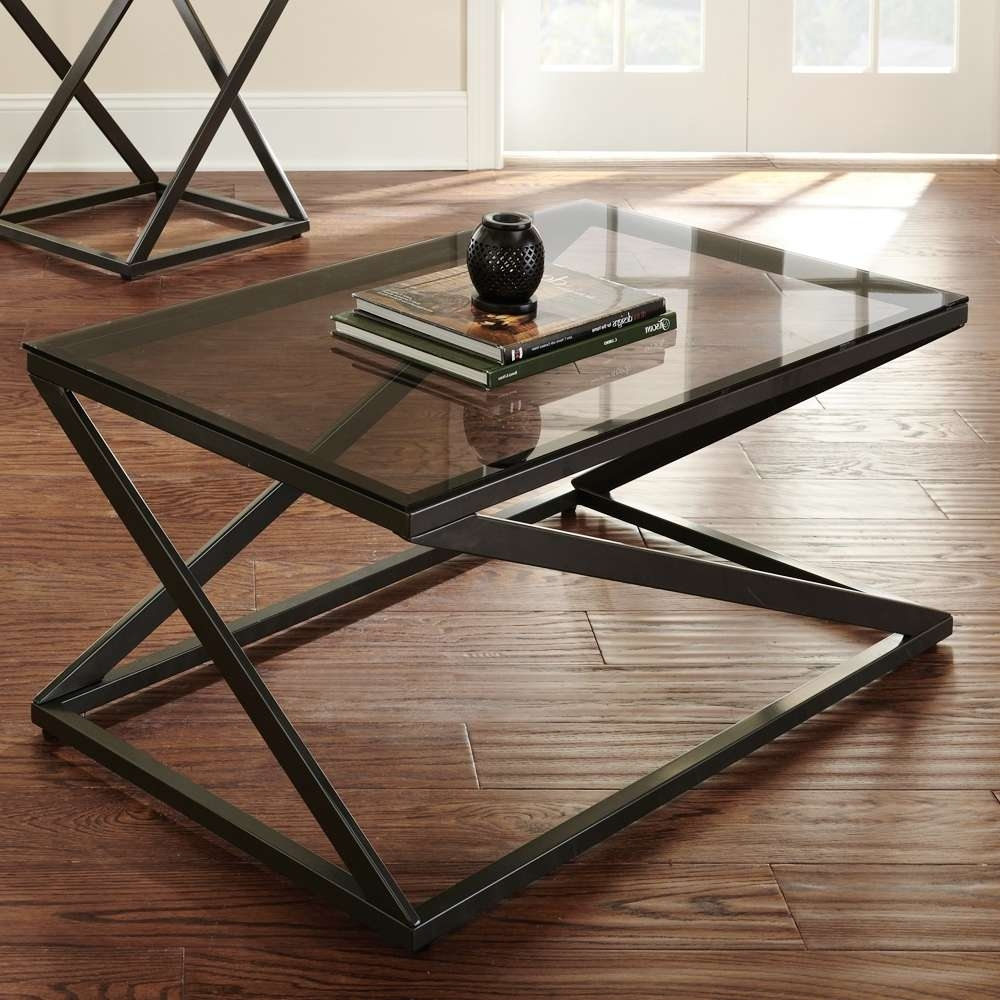 Trendy Bronze Coffee Table Glass Top Within Coffee Tables : Stylish Dark Tempered Oval Glass Coffee Table (View 5 of 20)