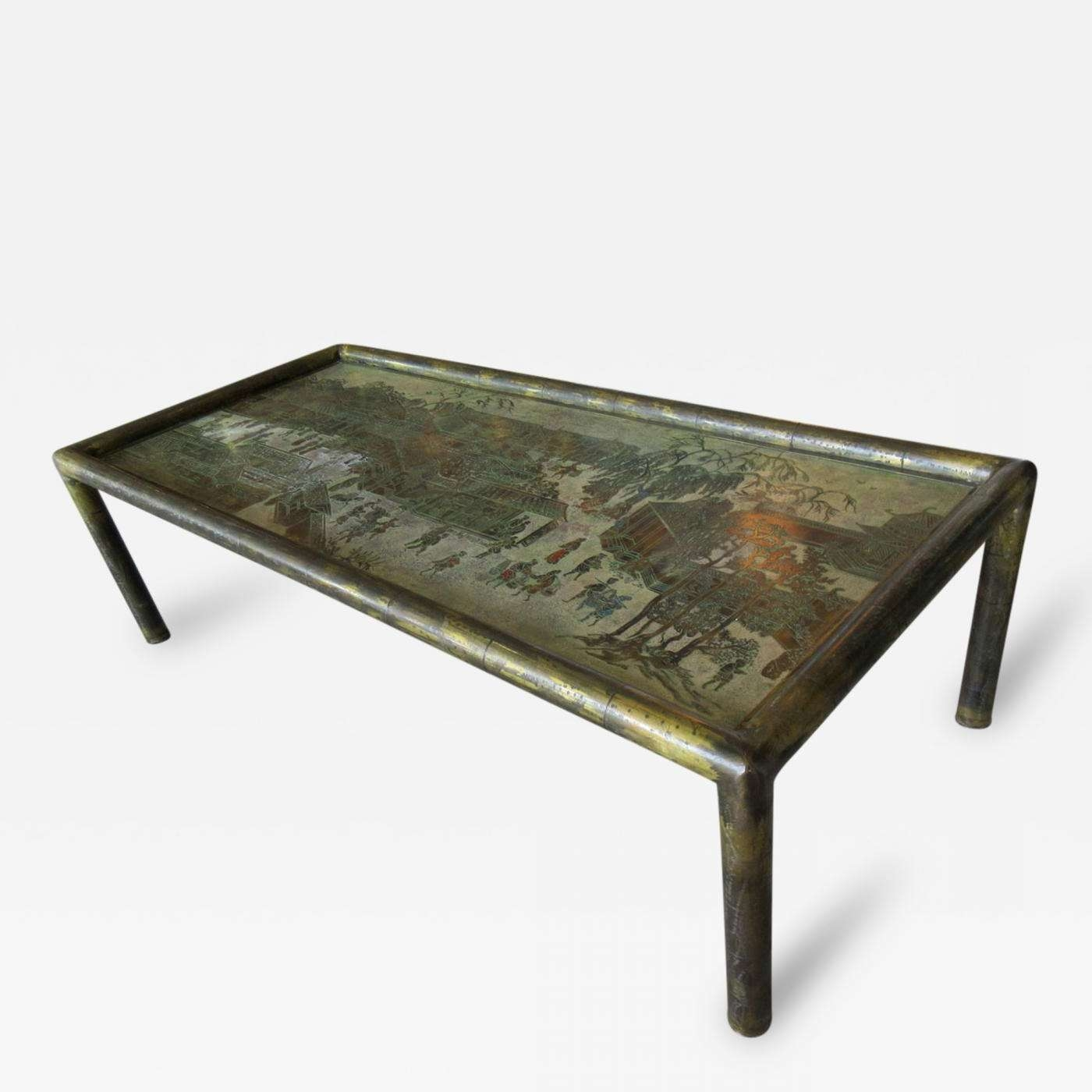 Trendy Bronze Coffee Tables Throughout Philip & Kelvin Laverne – Philip And Kelvin Laverne Etched Bronze (View 3 of 20)
