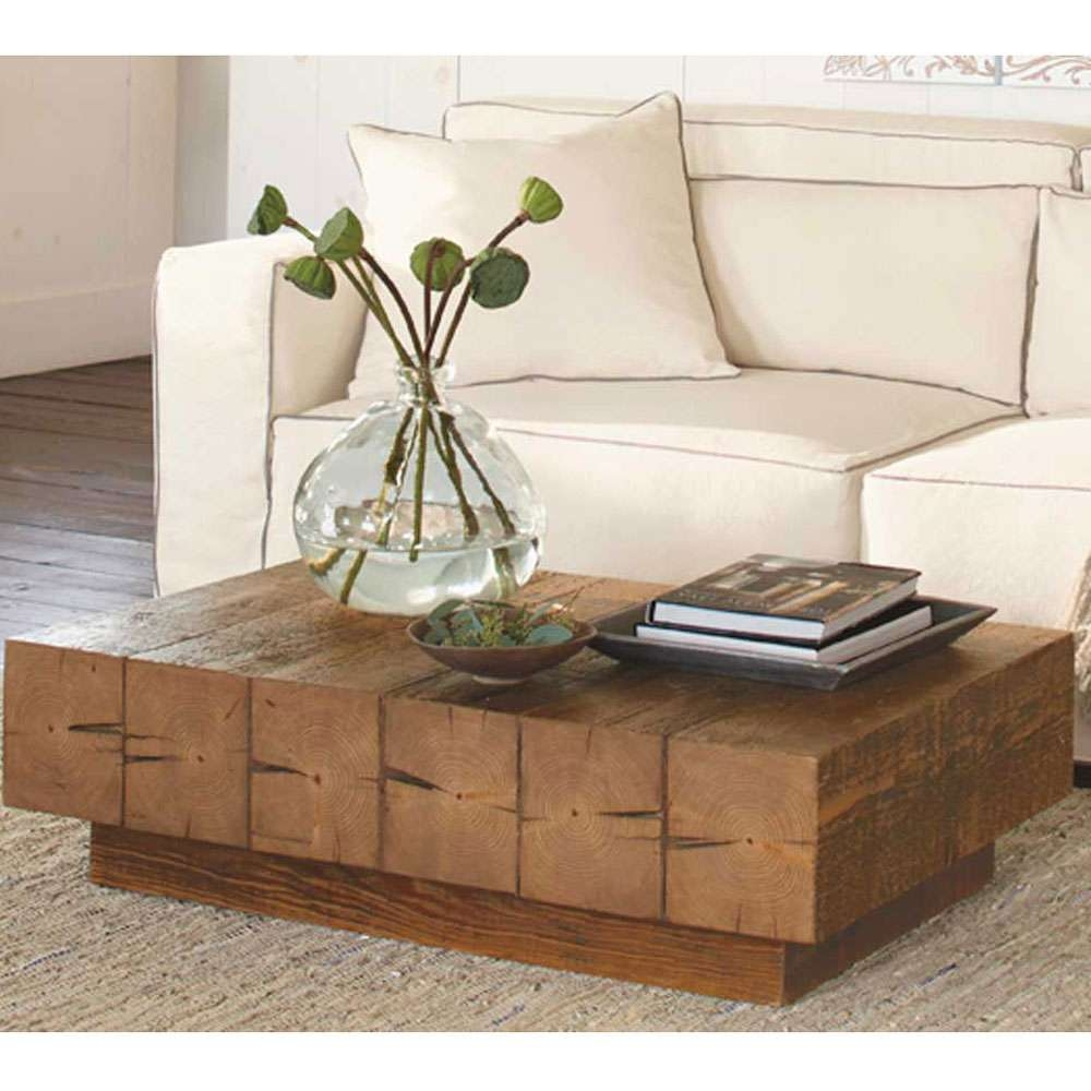 Trendy Chunky Coffee Tables Intended For Chunky Timber Coffee Table (View 12 of 20)