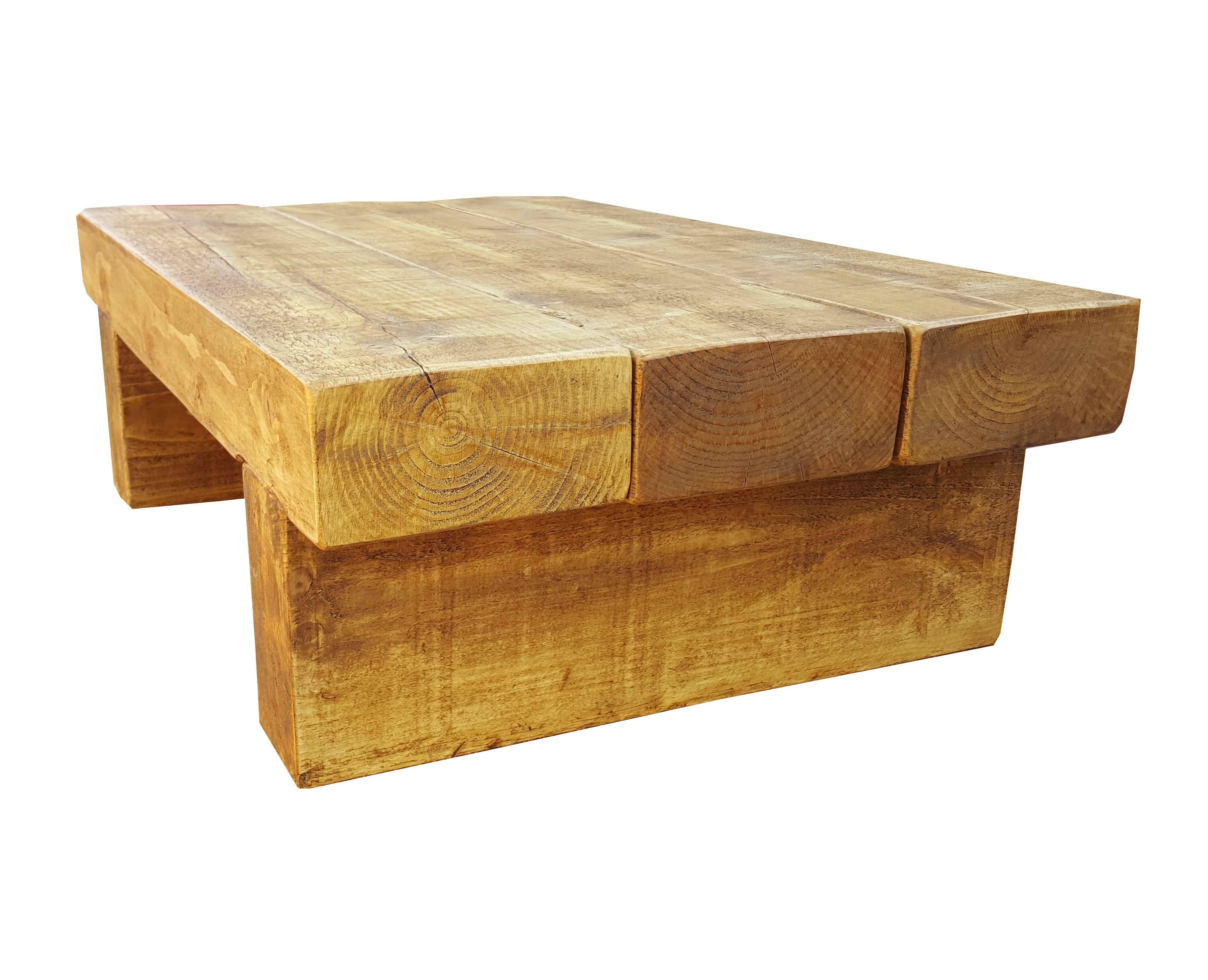 Trendy Chunky Coffee Tables Pertaining To Block Coffee Table – The Cool Wood Company (View 17 of 20)