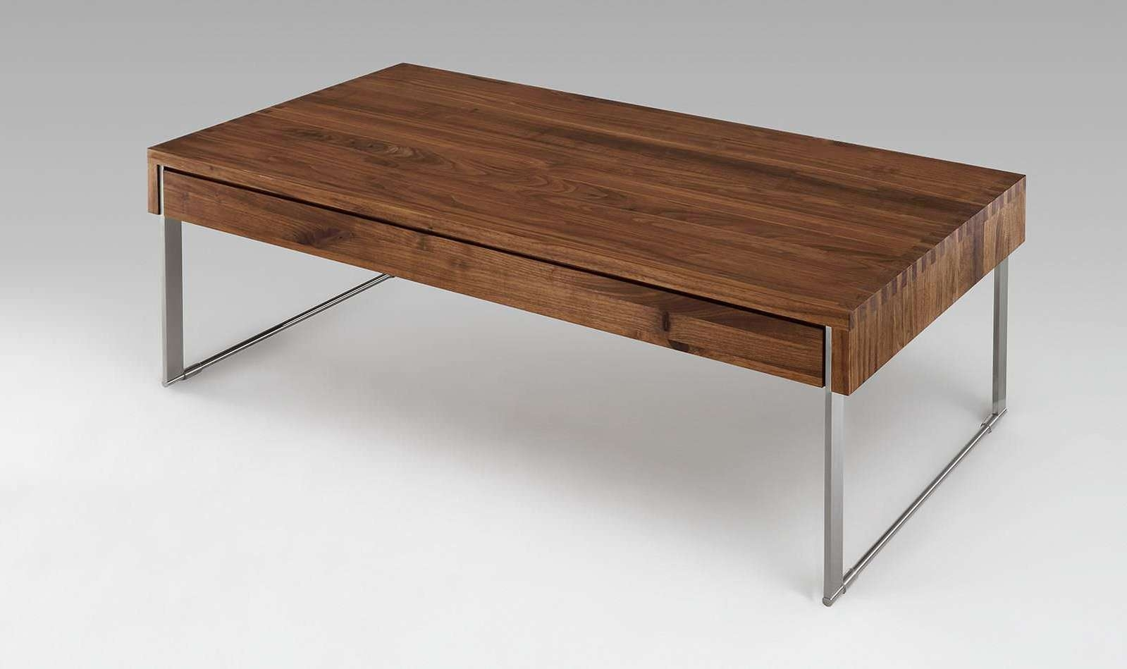 Trendy Coffee Tables Solid Wood Intended For Contemporary Coffee Table / Solid Wood / Rectangular / With Drawer (View 17 of 20)