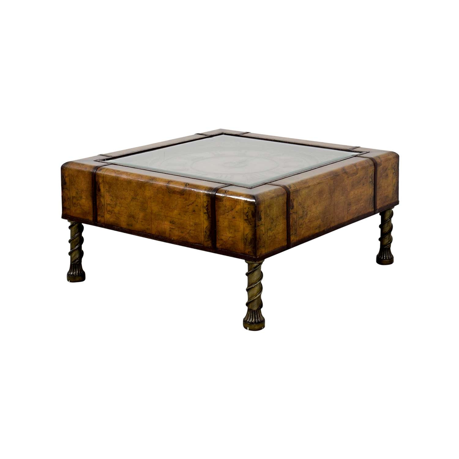 [%Trendy Coffee Tables With Clock Top In 87% Off – Glass Clock Top Coffee Table / Tables|87% Off – Glass Clock Top Coffee Table / Tables In Fashionable Coffee Tables With Clock Top%] (View 3 of 20)
