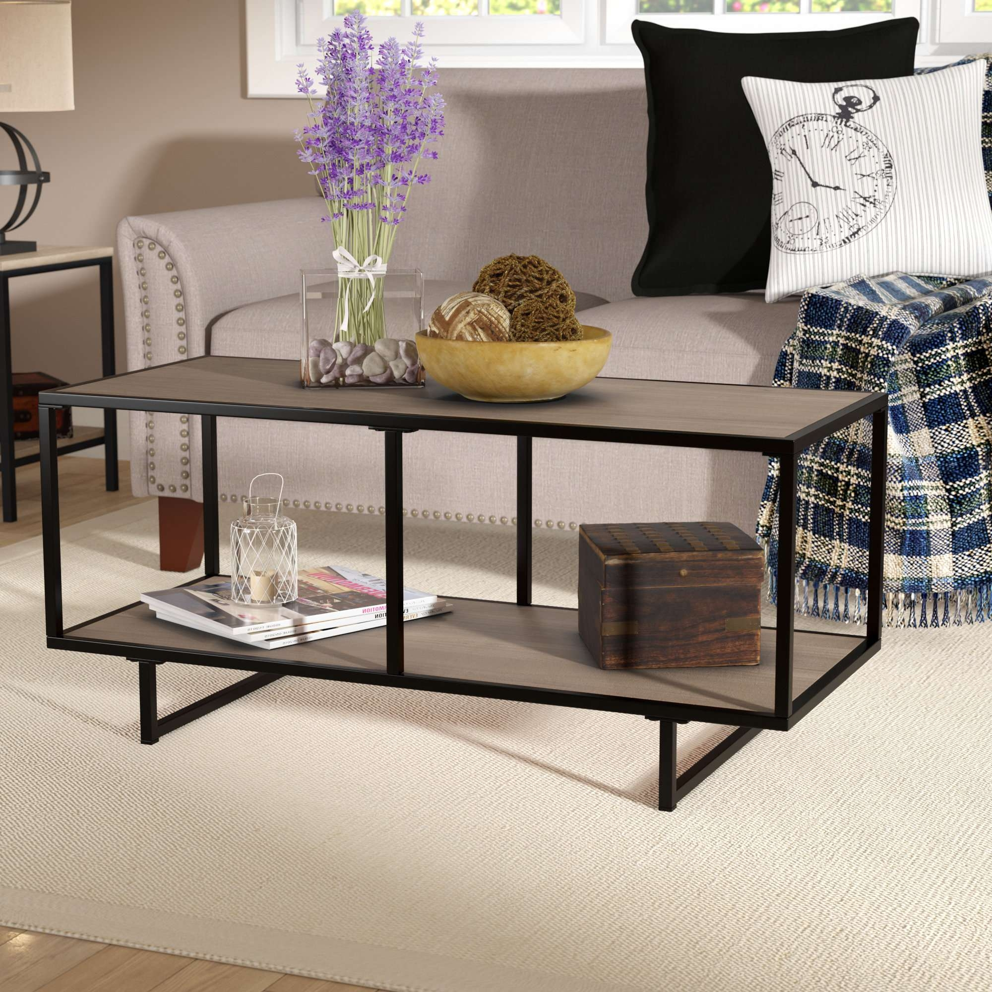 Trendy Coffee Tables With Shelves With Regard To Laurel Foundry Modern Farmhouse Zenaida Coffee Table & Reviews (View 9 of 20)