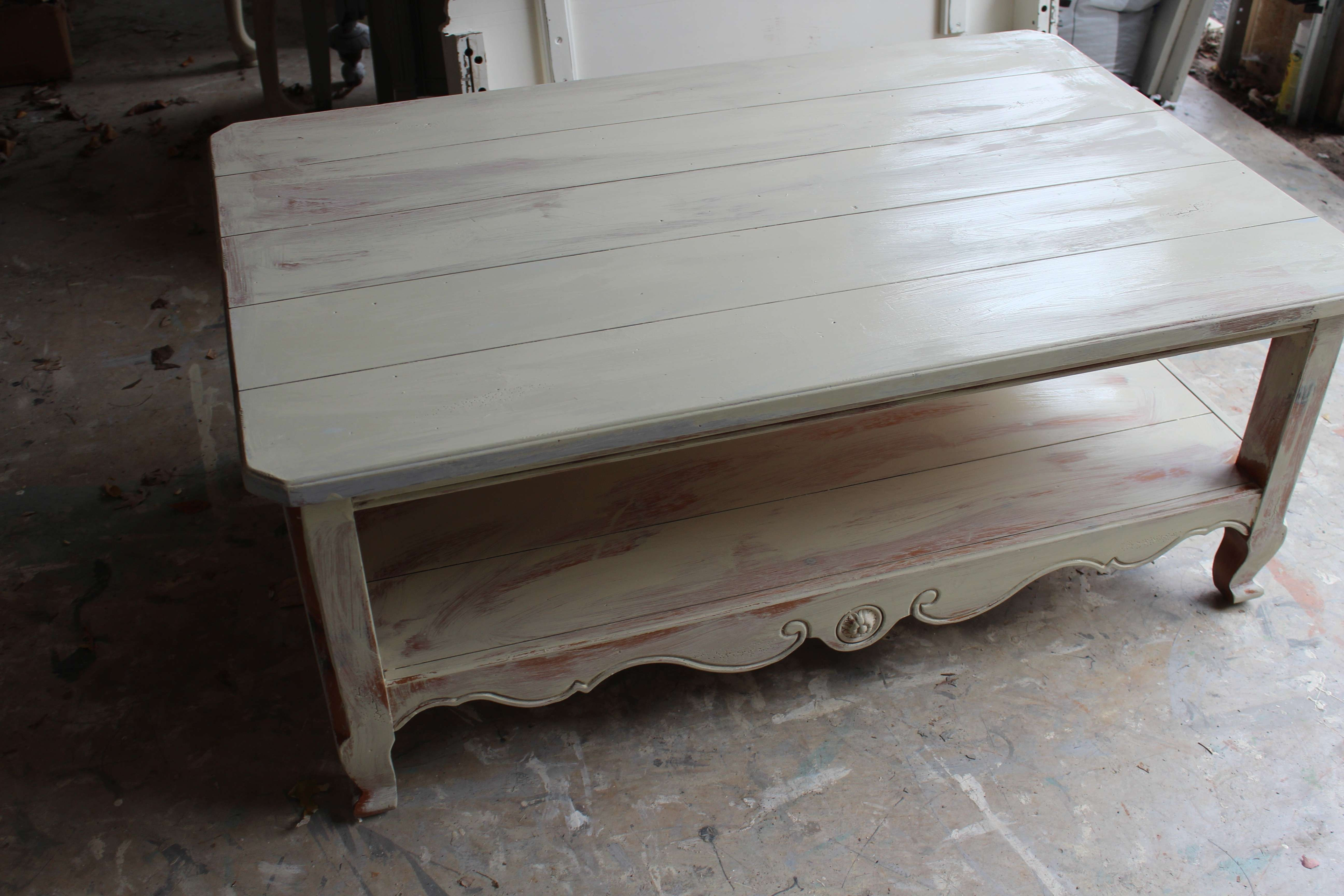 Trendy Cream And Oak Coffee Tables Throughout Coffee Tables : Ship Hatch Coffee Table White Parsons Cottage Milk (View 20 of 20)