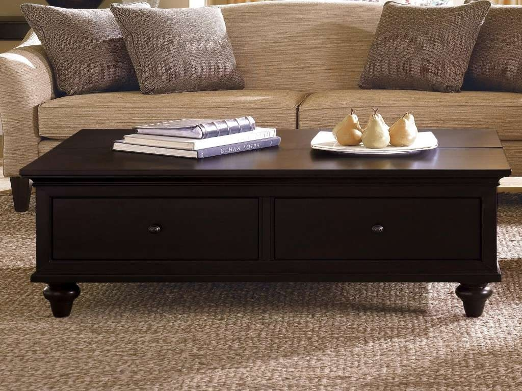 Trendy Dark Brown Coffee Tables Regarding Living Room Table With Storage New Coffee Table Enchanting Dark (View 17 of 20)