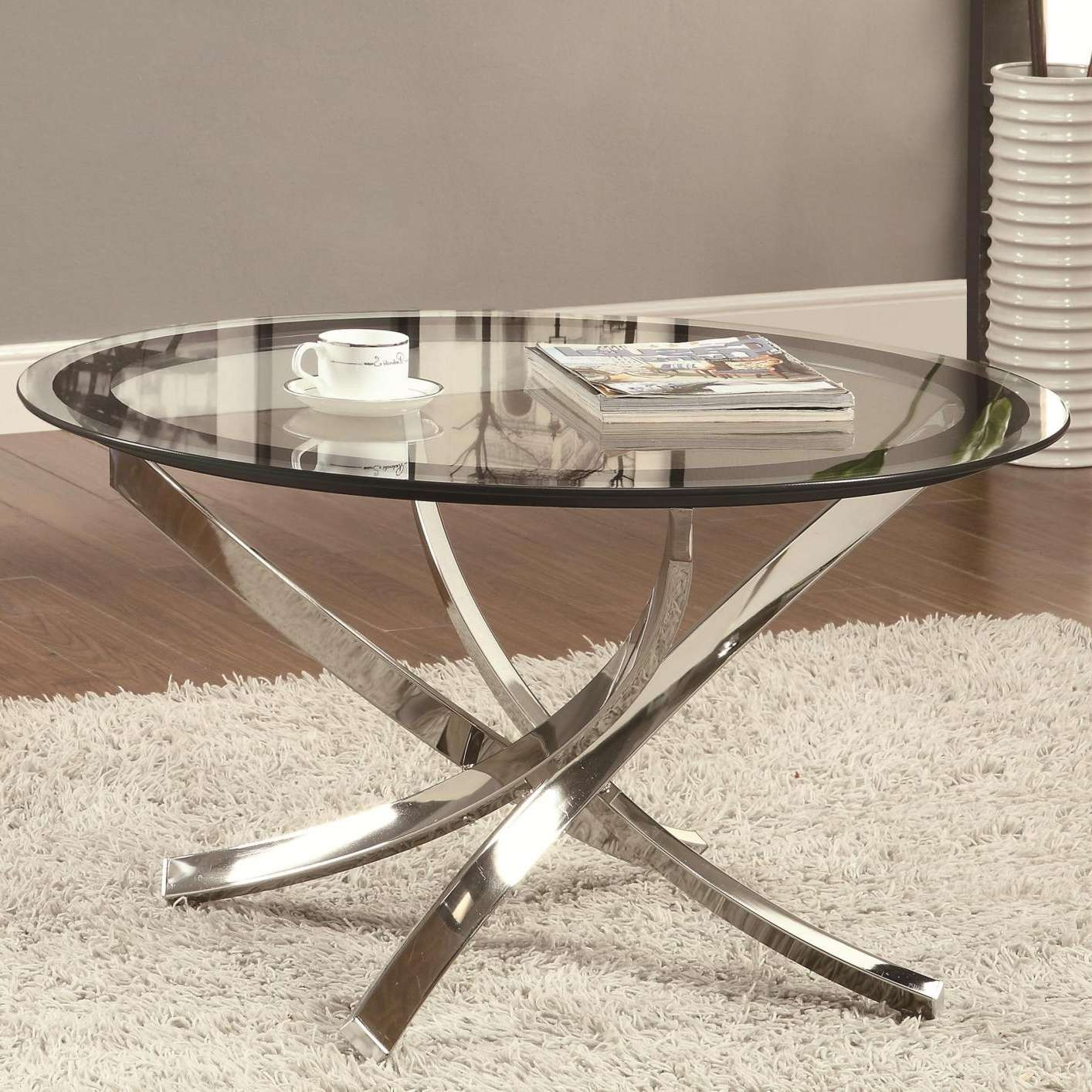 Trendy Glass And Silver Coffee Tables Pertaining To Glass Coffee Table – New Collections About Coffee Table (View 16 of 20)