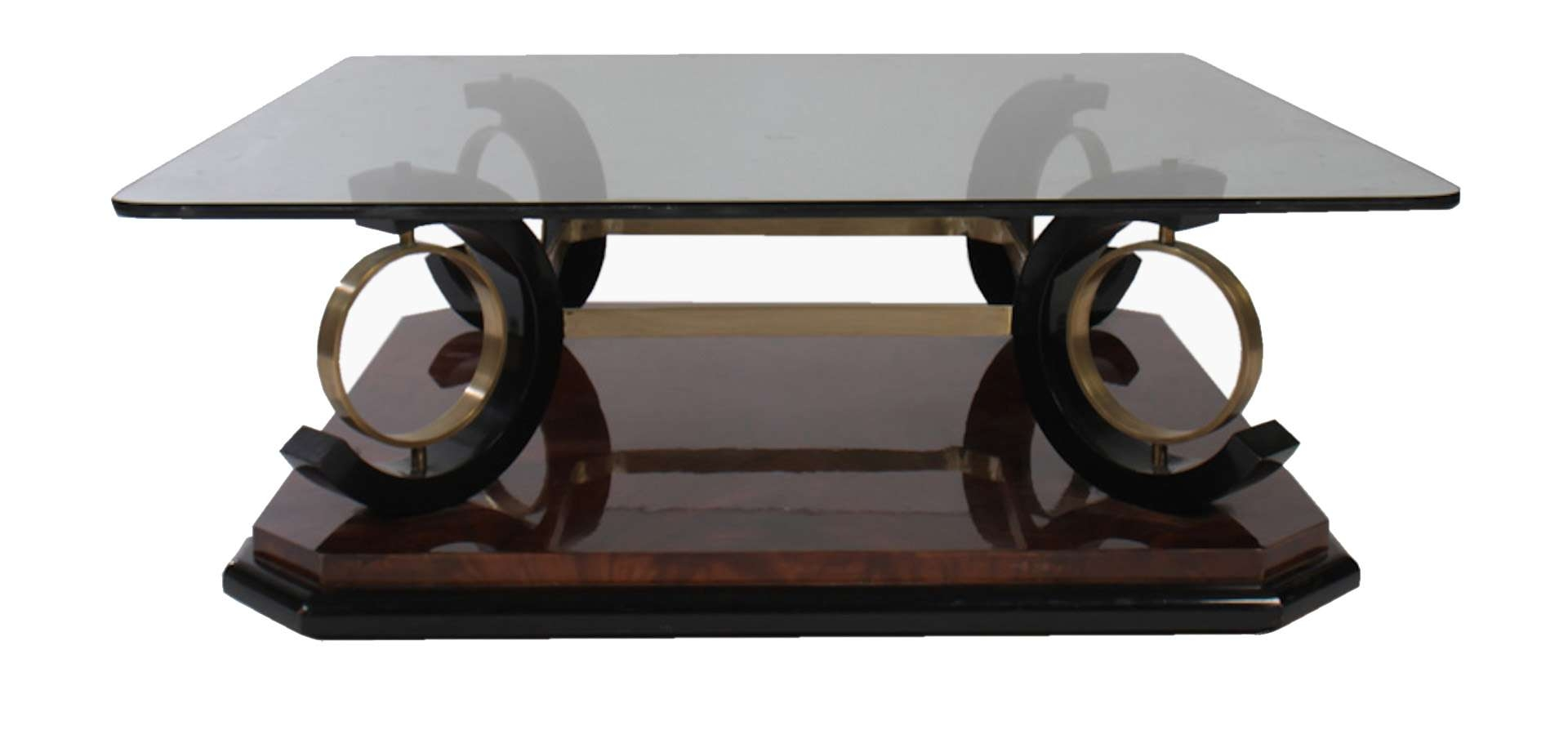 Trendy Italian Coffee Tables Inside Italian Mid Century Modern Coffee Table Having Glass Top (View 18 of 20)