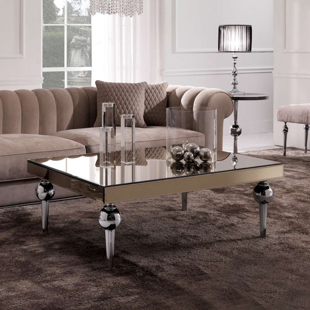 Trendy Italian Coffee Tables Regarding Italian Coffee Tables Uk New Designer Italian Mirrored Venetian (View 14 of 20)