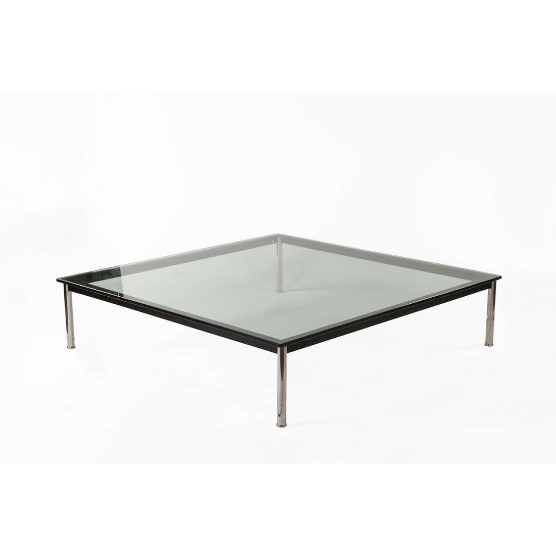Trendy Low Rectangular Coffee Tables Inside Mid Century Modern Reproduction Lc10 Rectangle Low (View 15 of 20)