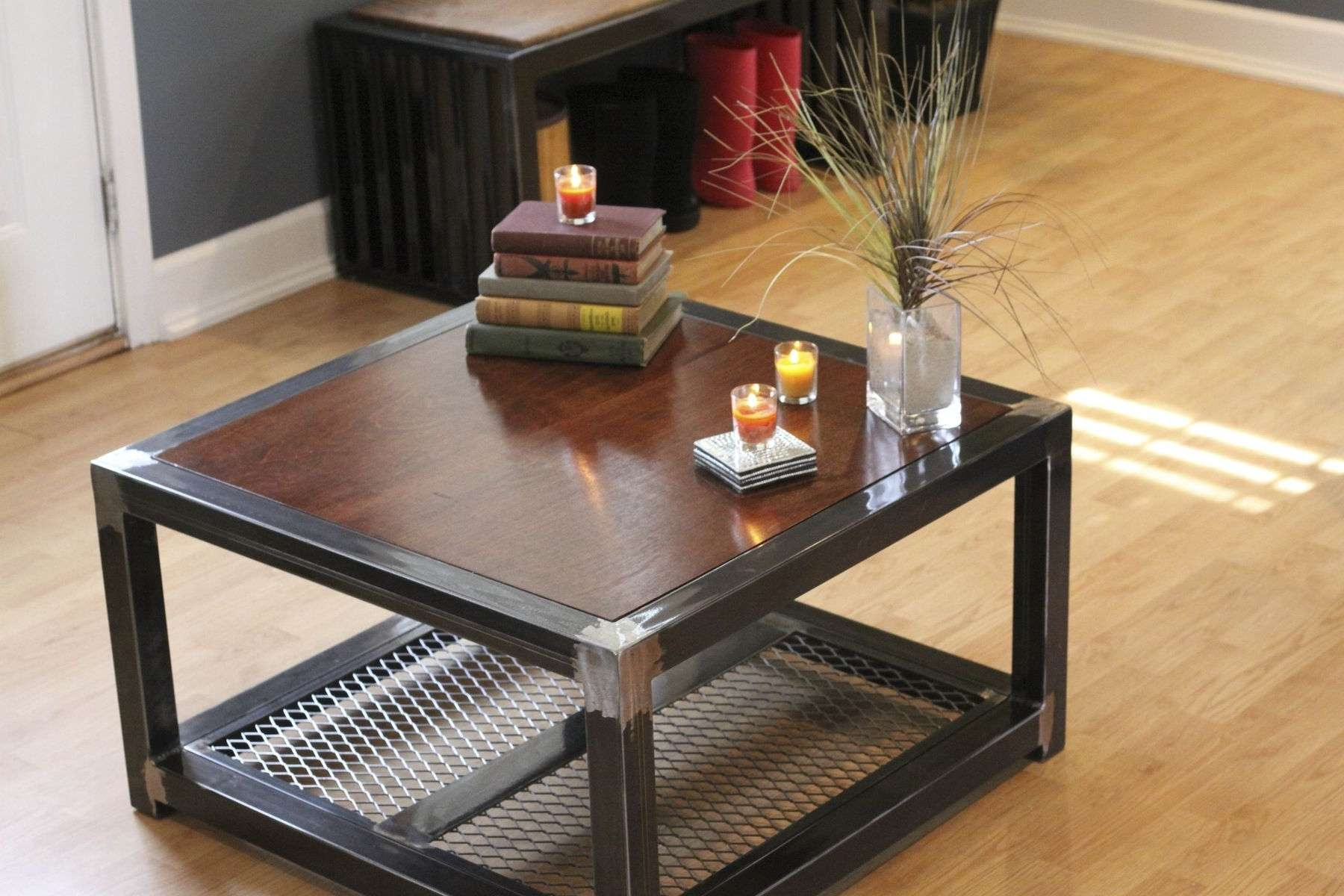 Trendy Marble And Metal Coffee Tables With Regard To Coffee Tables : Round Metal Coffee Table With Glass Top Wood And (View 18 of 20)