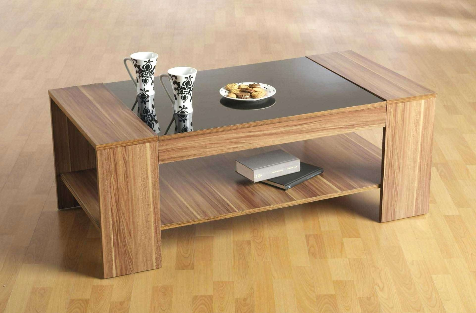 Trendy Oak And Glass Coffee Table For Coffee Tables : Outstanding Square Coffee Tables Wood Images (View 7 of 20)