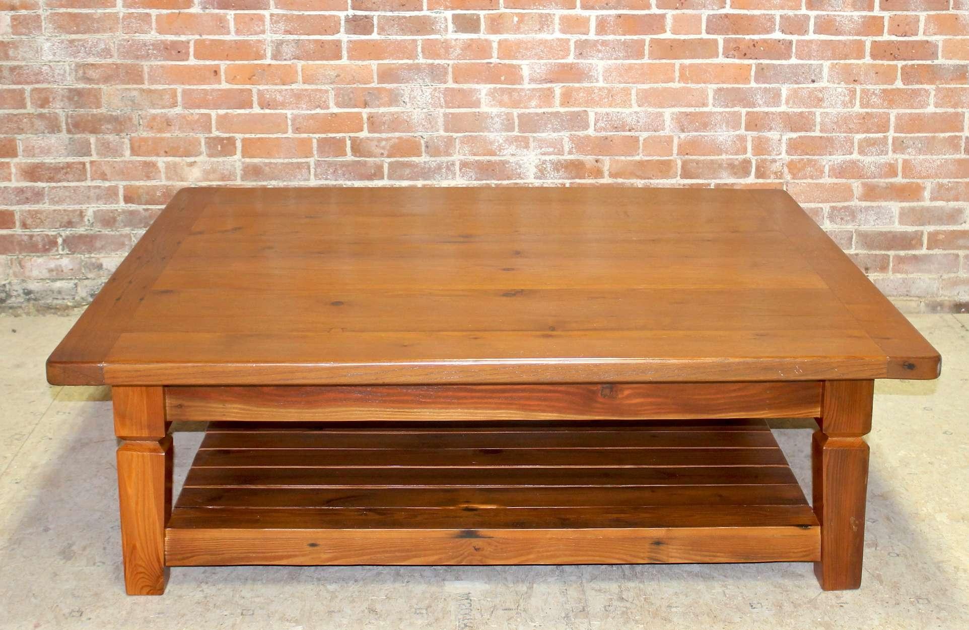Trendy Oak Coffee Table With Shelf For Oak Coffee Table With Slatted Shelf – Ecustomfinishes (View 17 of 20)