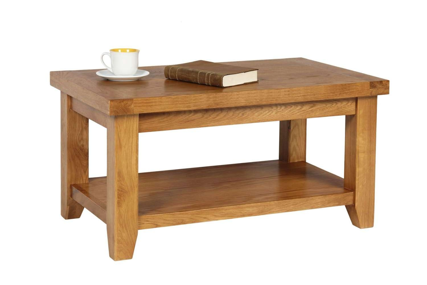 Trendy Oak Coffee Table With Shelf With Country Oak Coffee Table With Shelf (View 17 of 20)