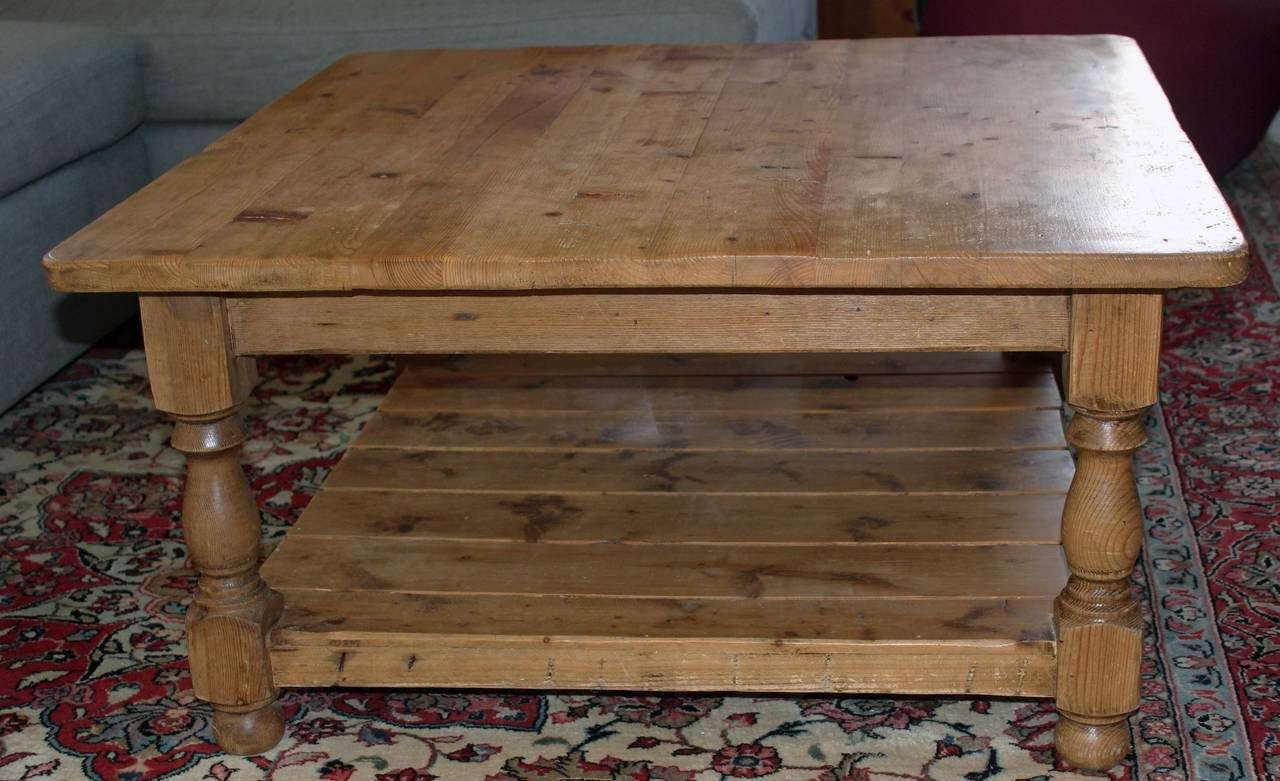 Trendy Pine Coffee Tables Inside Vintage English Pine Coffee Table At 1Stdibs (View 17 of 20)