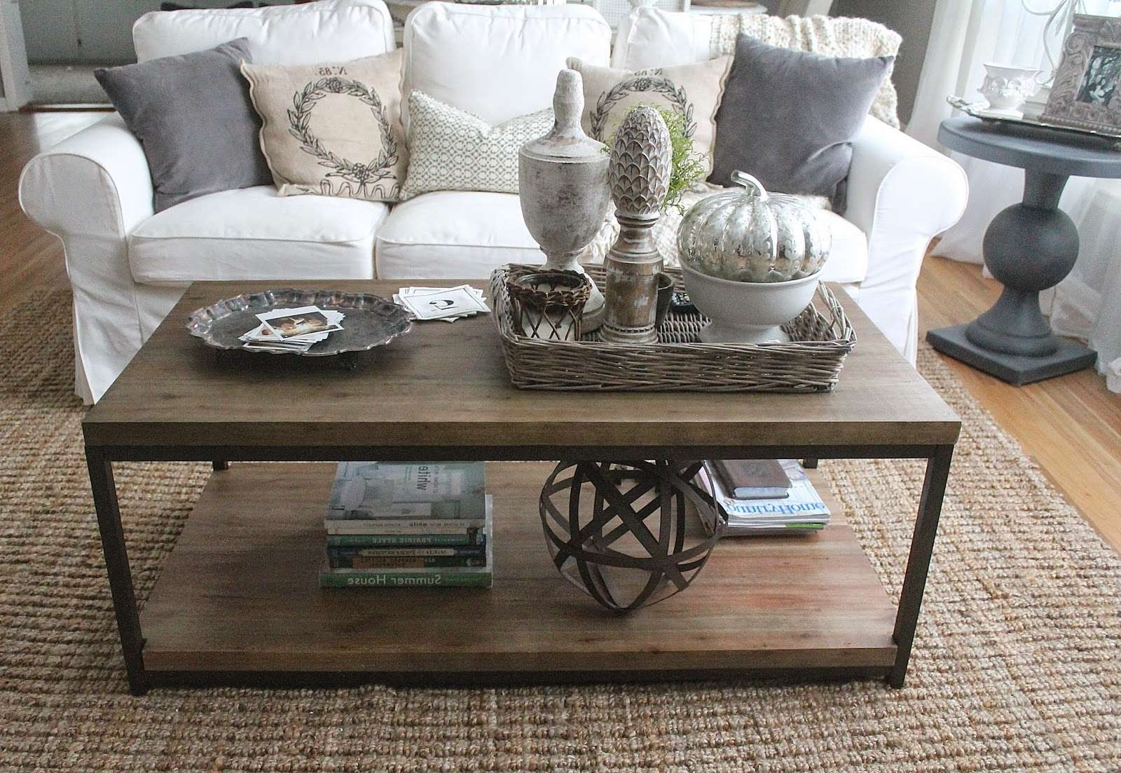 Trendy Round Coffee Table Trays With Regard To Coffee Tables : Serving Trays For Ottomans Couch Table Tray Small (View 9 of 20)