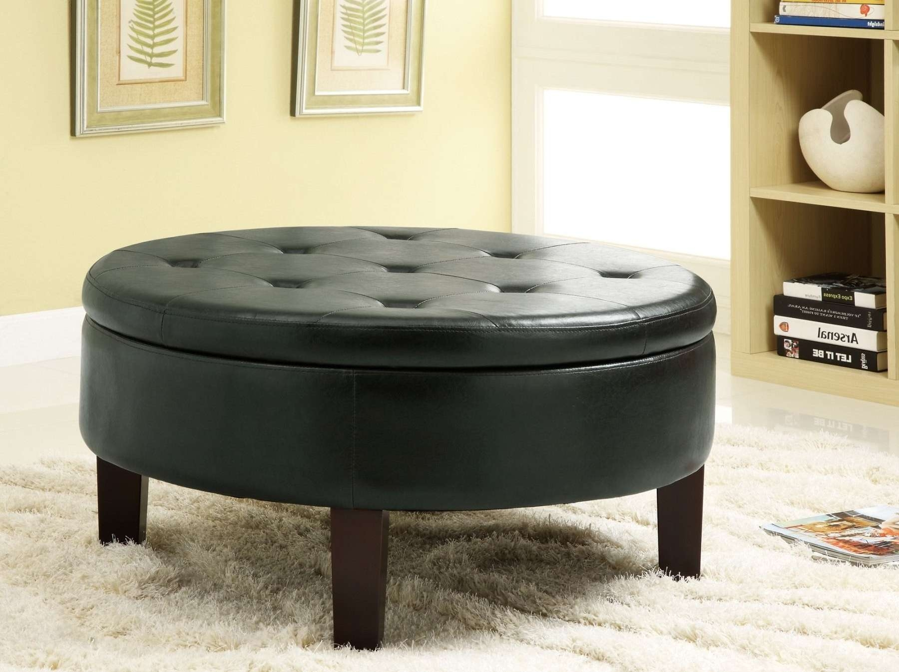Trendy Round Coffee Tables With Storages In Round Coffee Table With Storage Coffee Tables With Round Coffee (View 3 of 20)