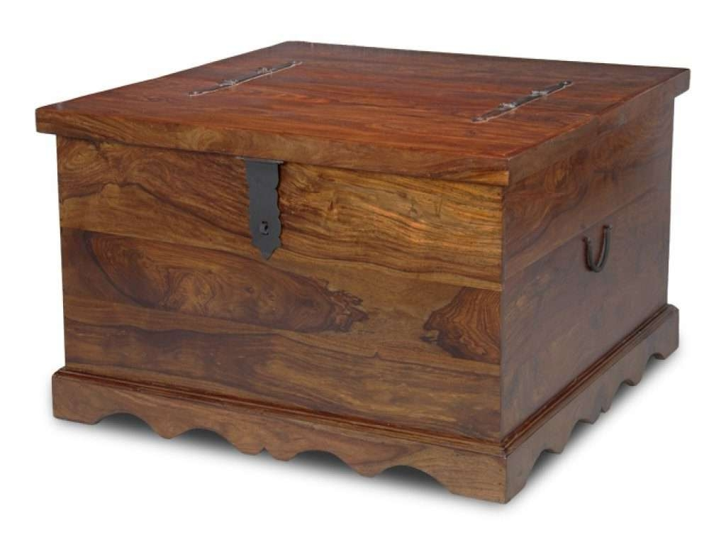 Trendy Square Chest Coffee Tables In Furniture: Trunk Coffee Table Luxury Jali Square Trunk Coffee (View 19 of 20)